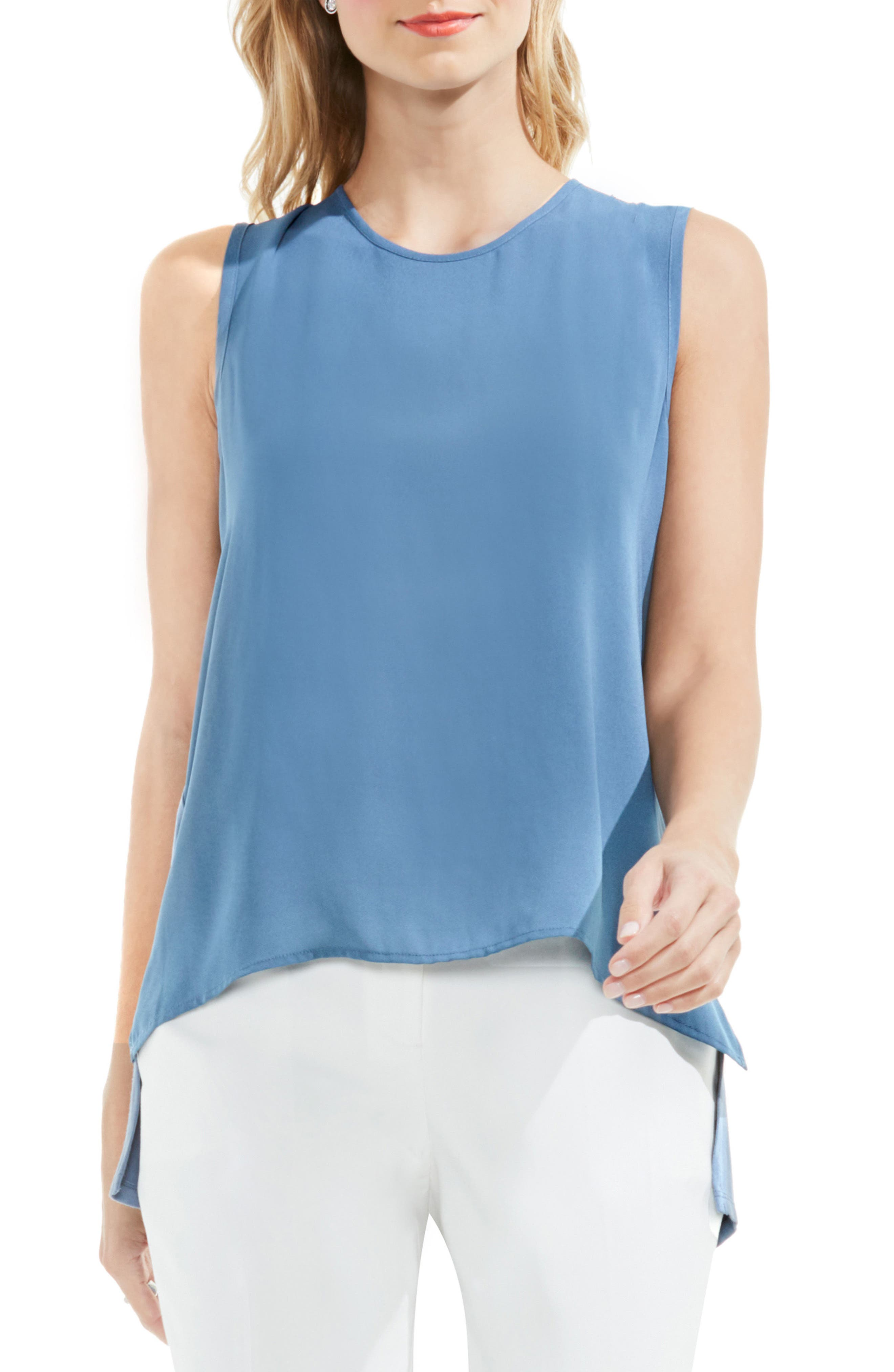 VINCE CAMUTO Back Tie Sleeveless Blouse