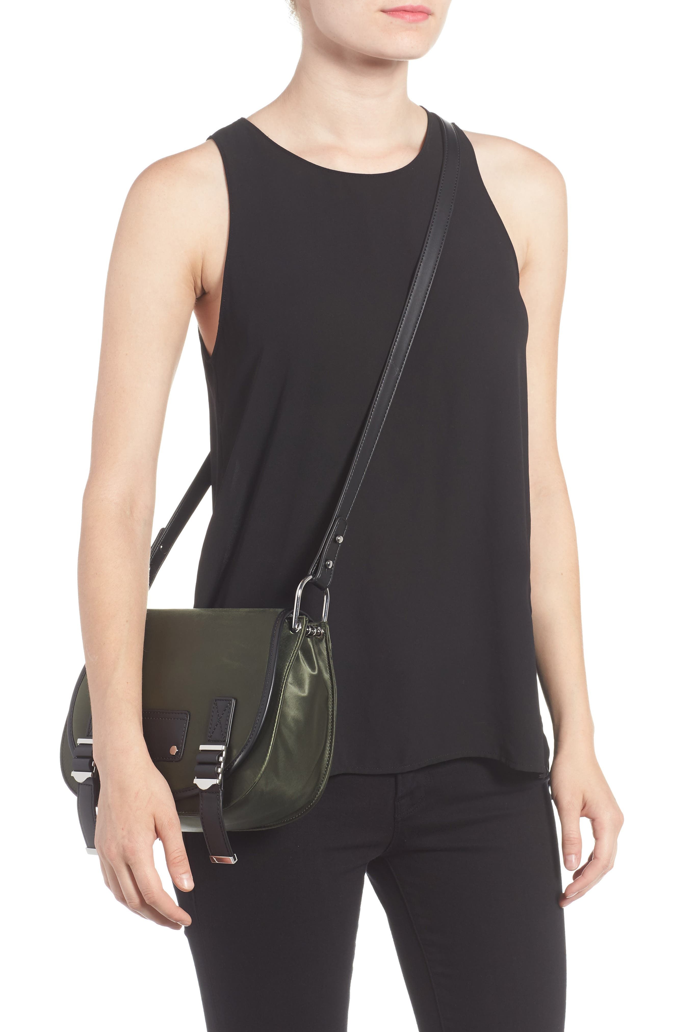 Alternate Image 2  - Rebecca Minkoff Military Satin Nylon Saddle Bag