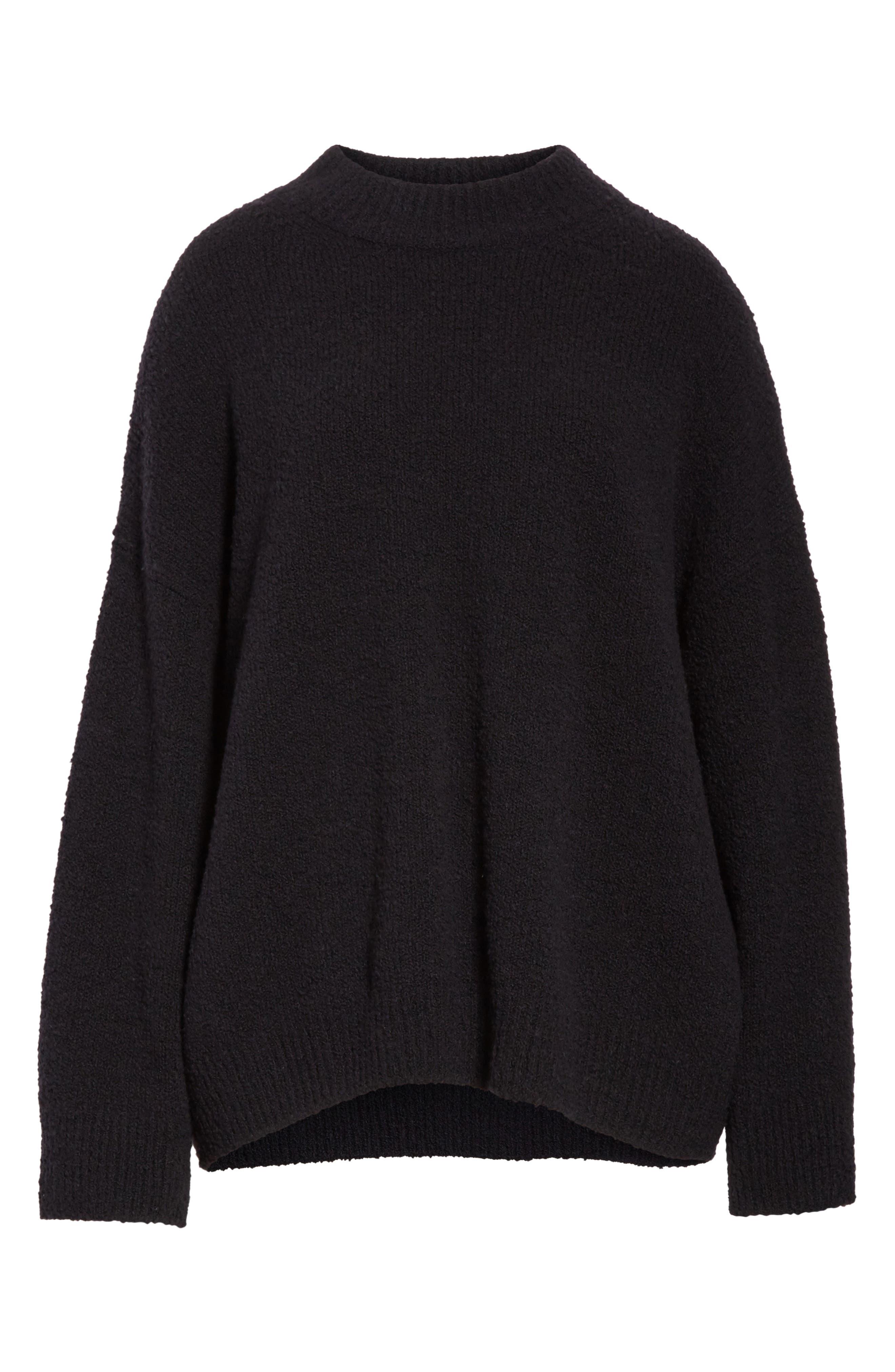 Boxy Knit Pullover,                             Alternate thumbnail 5, color,                             Black