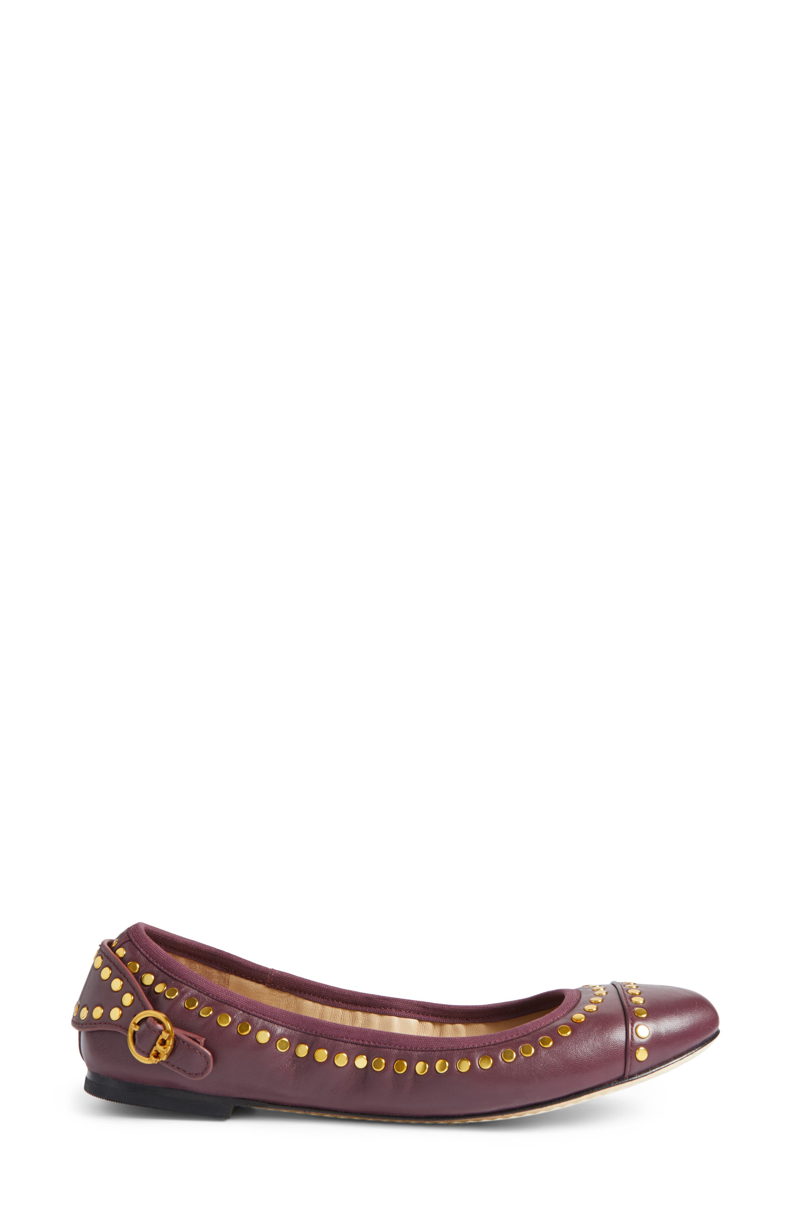 Alternate Image 3  - Tory Burch Holden Studded Cap Toe Flat (Women)
