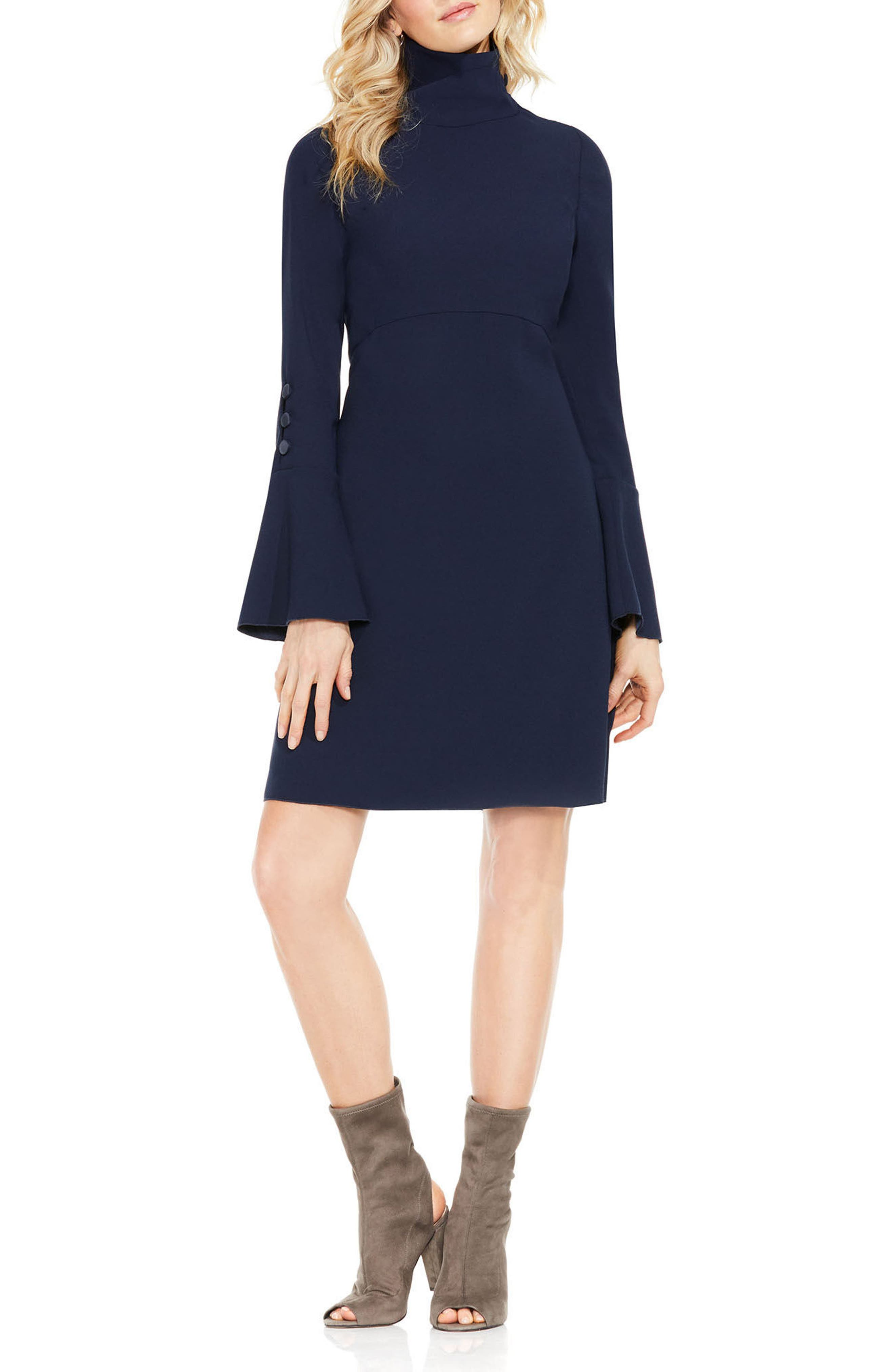 Main Image - Vince Camuto Flutter Cuff Shift Dress