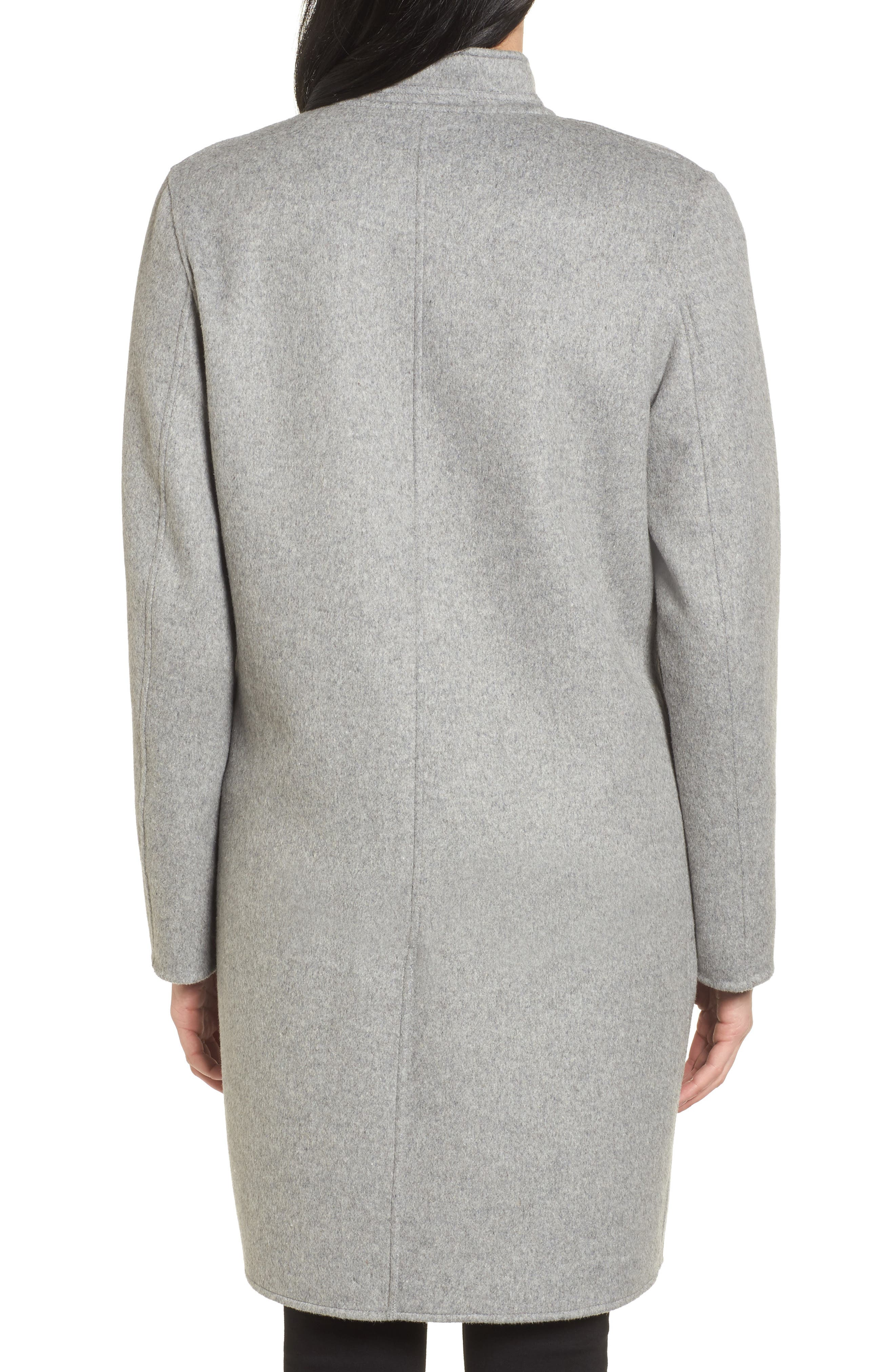 Double Face Wool Blend Coat,                             Alternate thumbnail 2, color,                             Light Grey