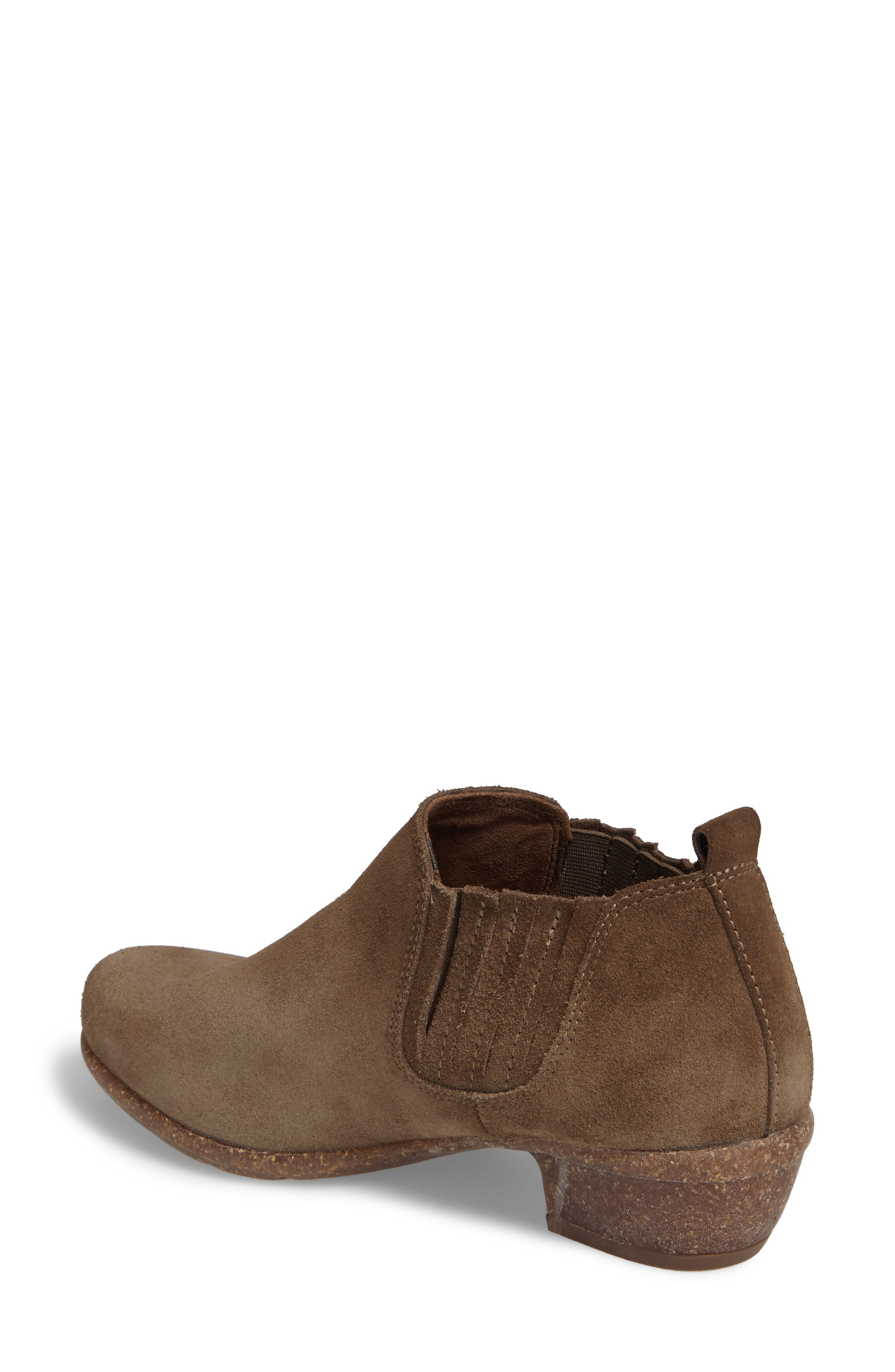 Wilrose Jade Low Chelsea Bootie,                             Alternate thumbnail 2, color,                             Olive Suede