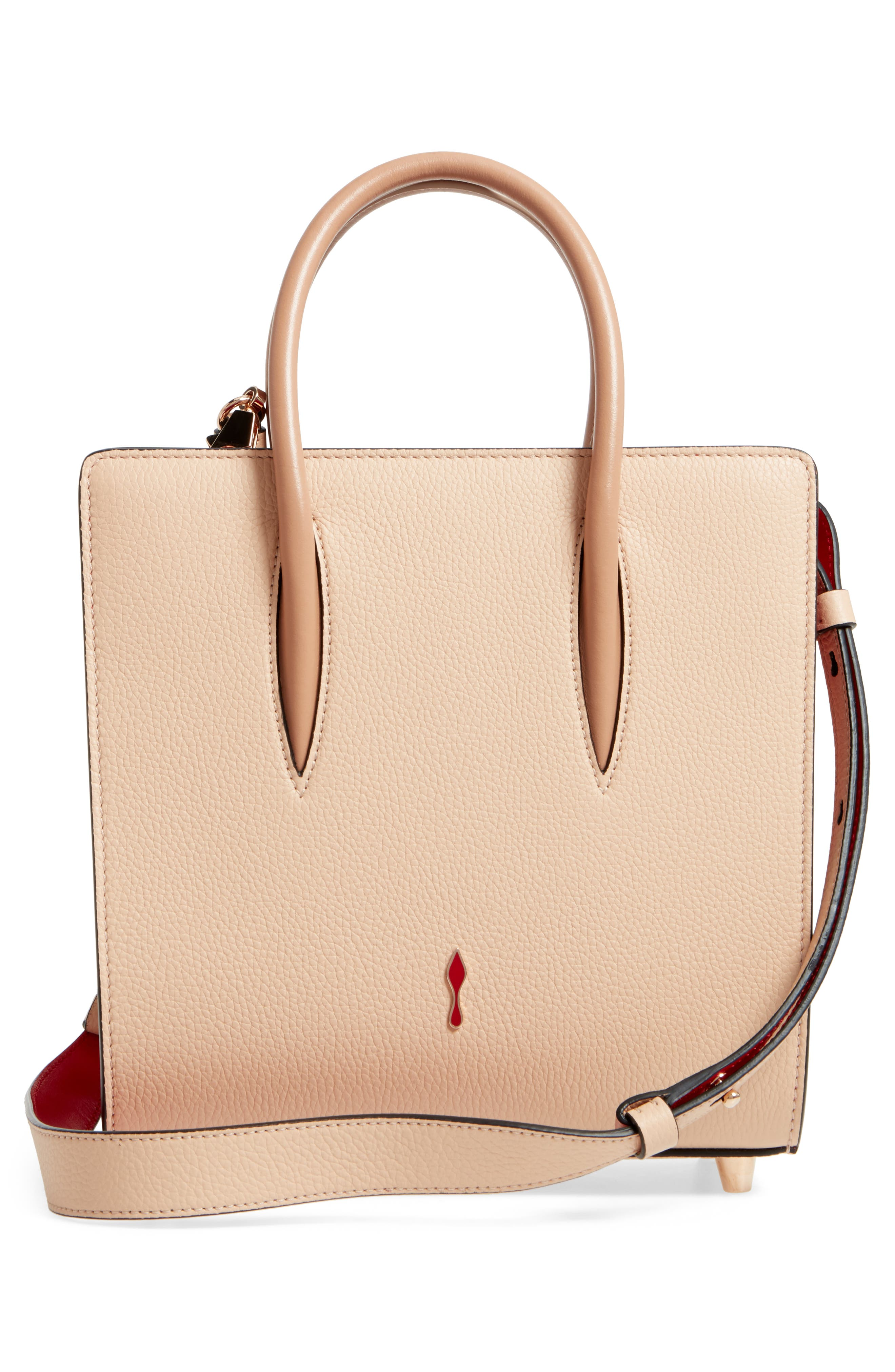 Small Paloma Empire Leather Tote,                             Alternate thumbnail 2, color,                             Naturel/ Rose Gold