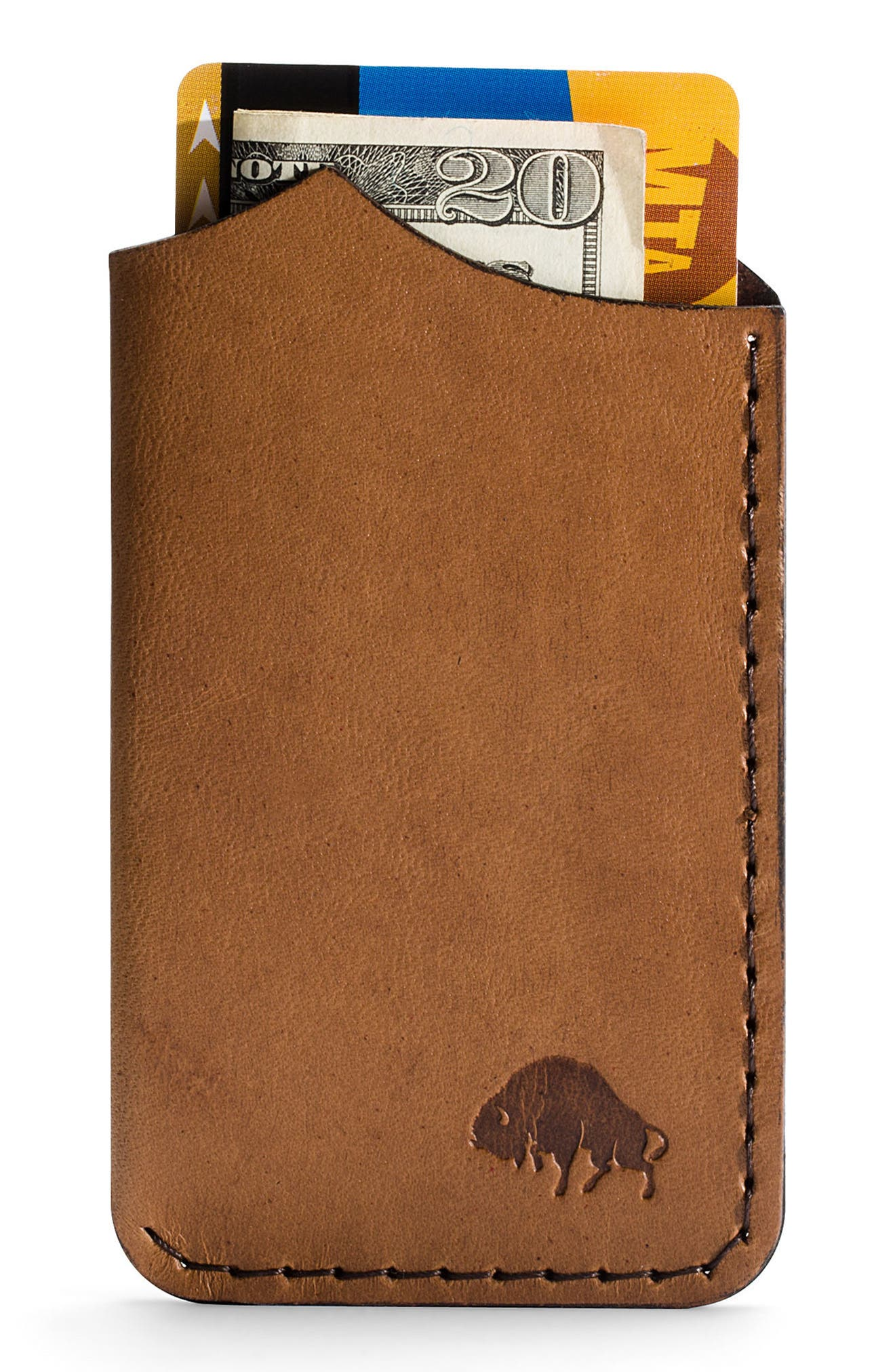 Alternate Image 2  - Ezra Arthur No. 1 Leather Card Case