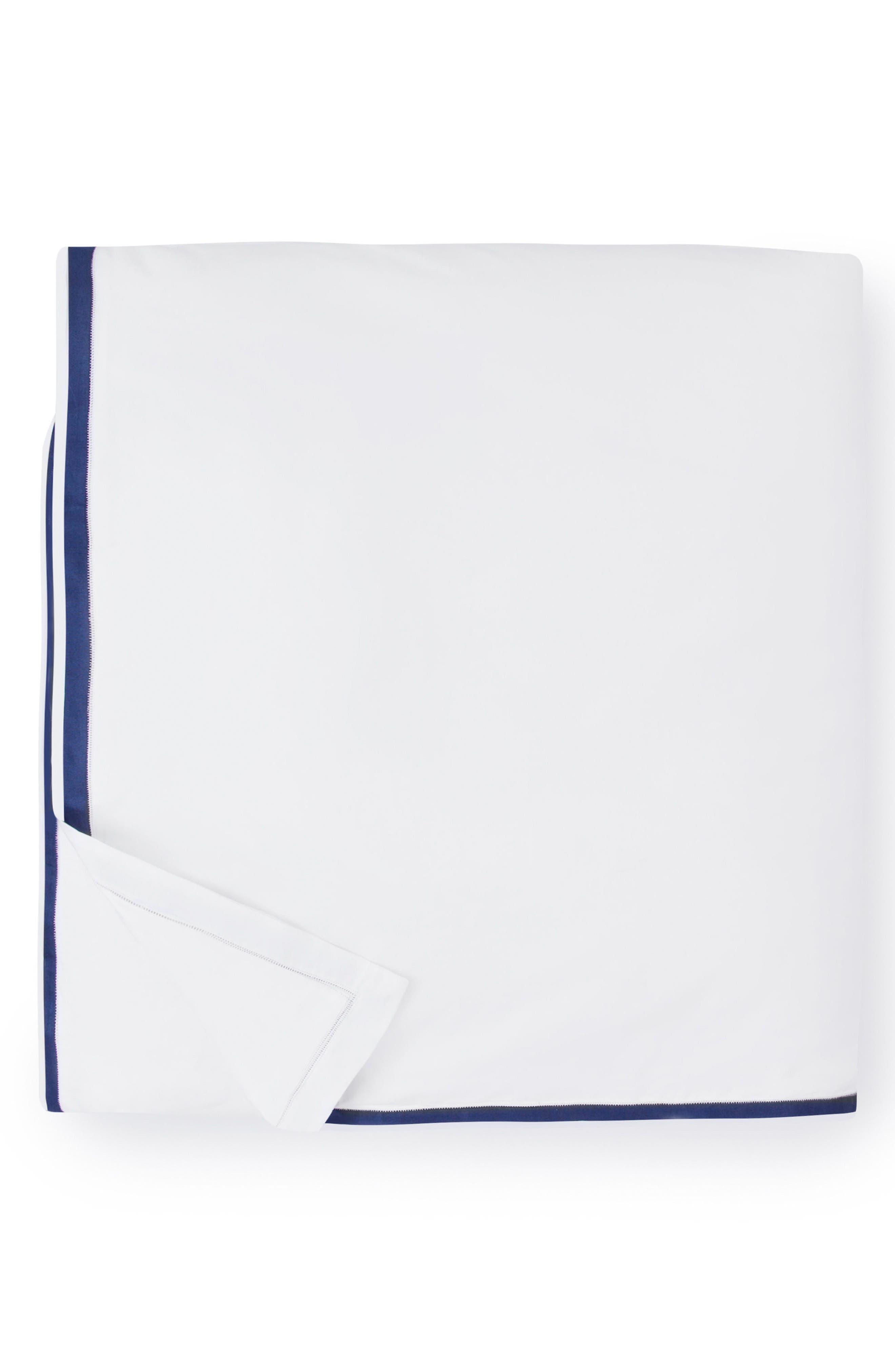 Amando Duvet Cover,                             Alternate thumbnail 2, color,                             White/ Navy