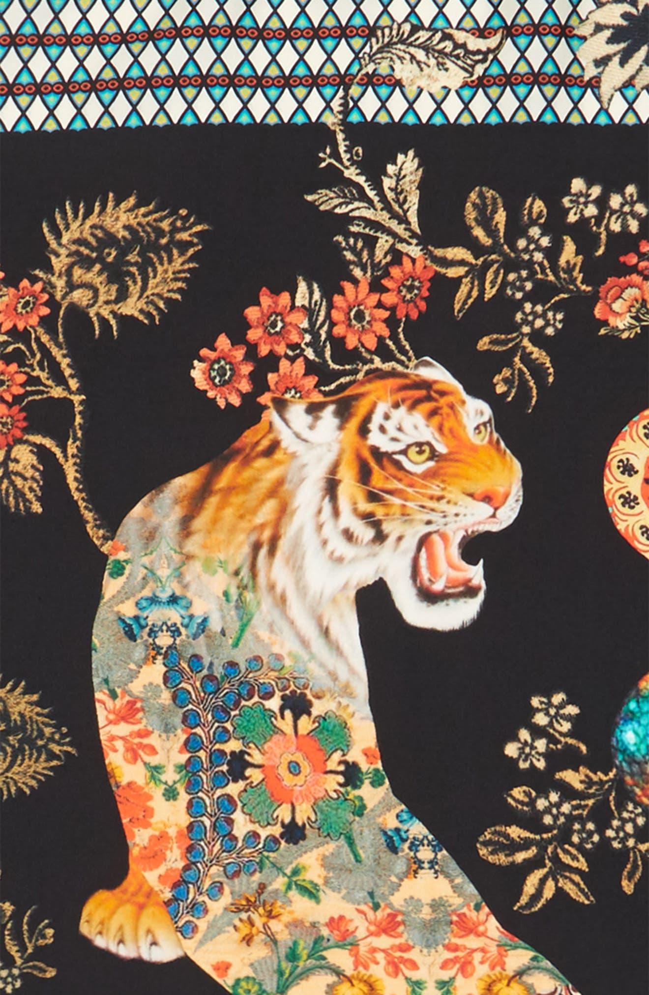 Alternate Image 2  - Etro Tiger Print Silk Scarf