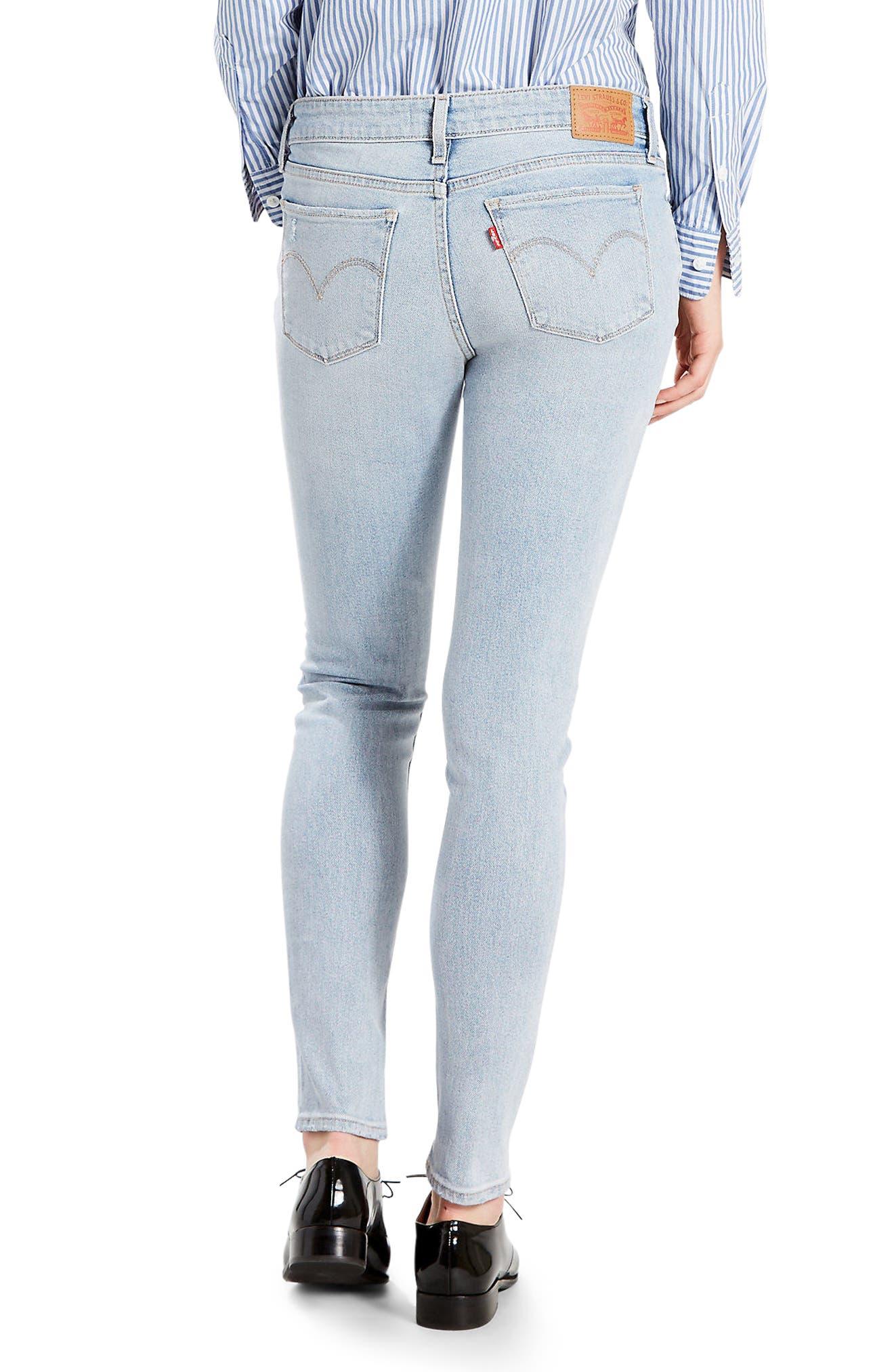 Alternate Image 2  - Levi's® 711 Skinny Jeans (Let's Run Away)