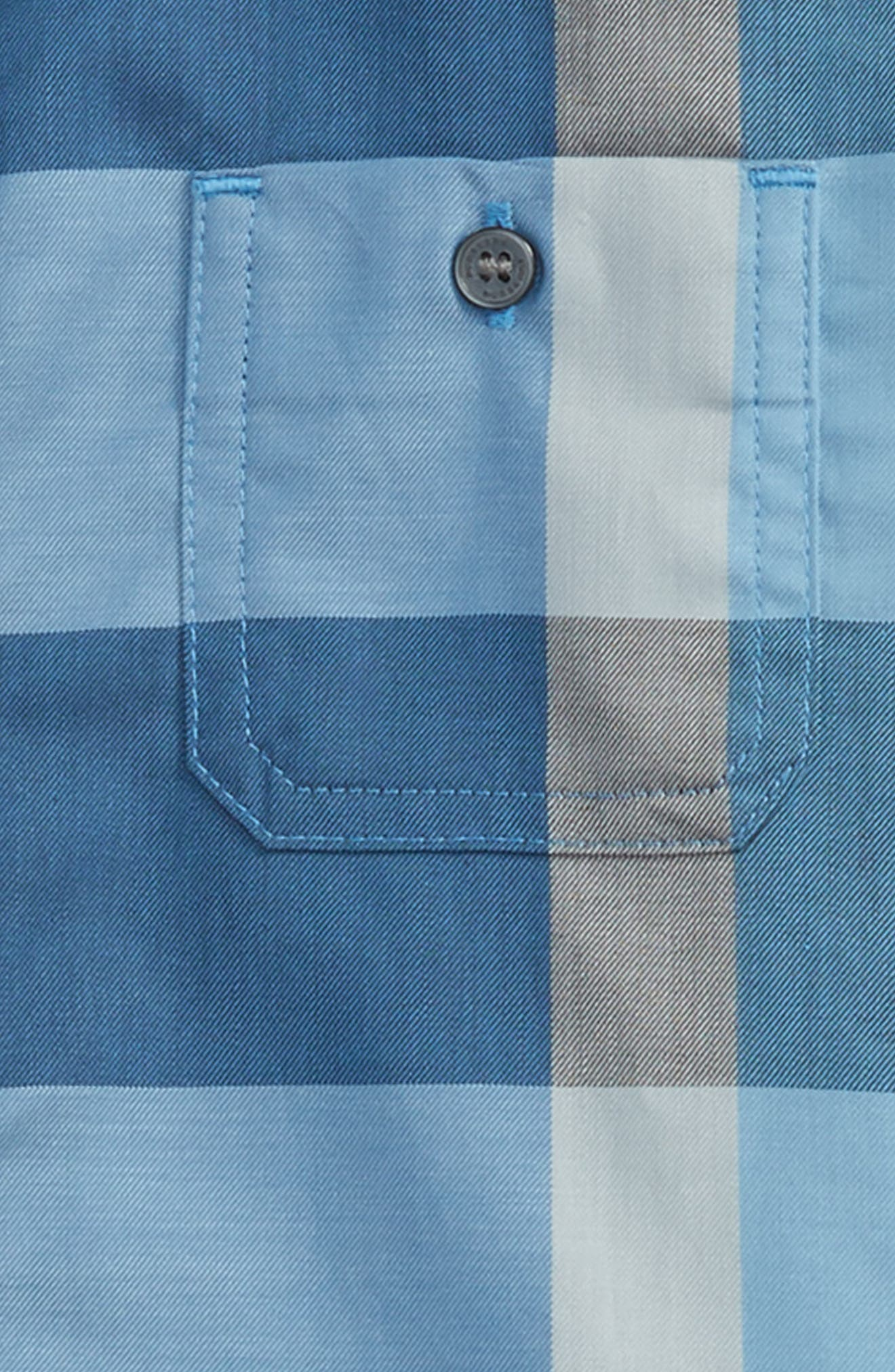 Mini Camber Short Sleeve Shirt,                             Alternate thumbnail 2, color,                             Cornflower Blue