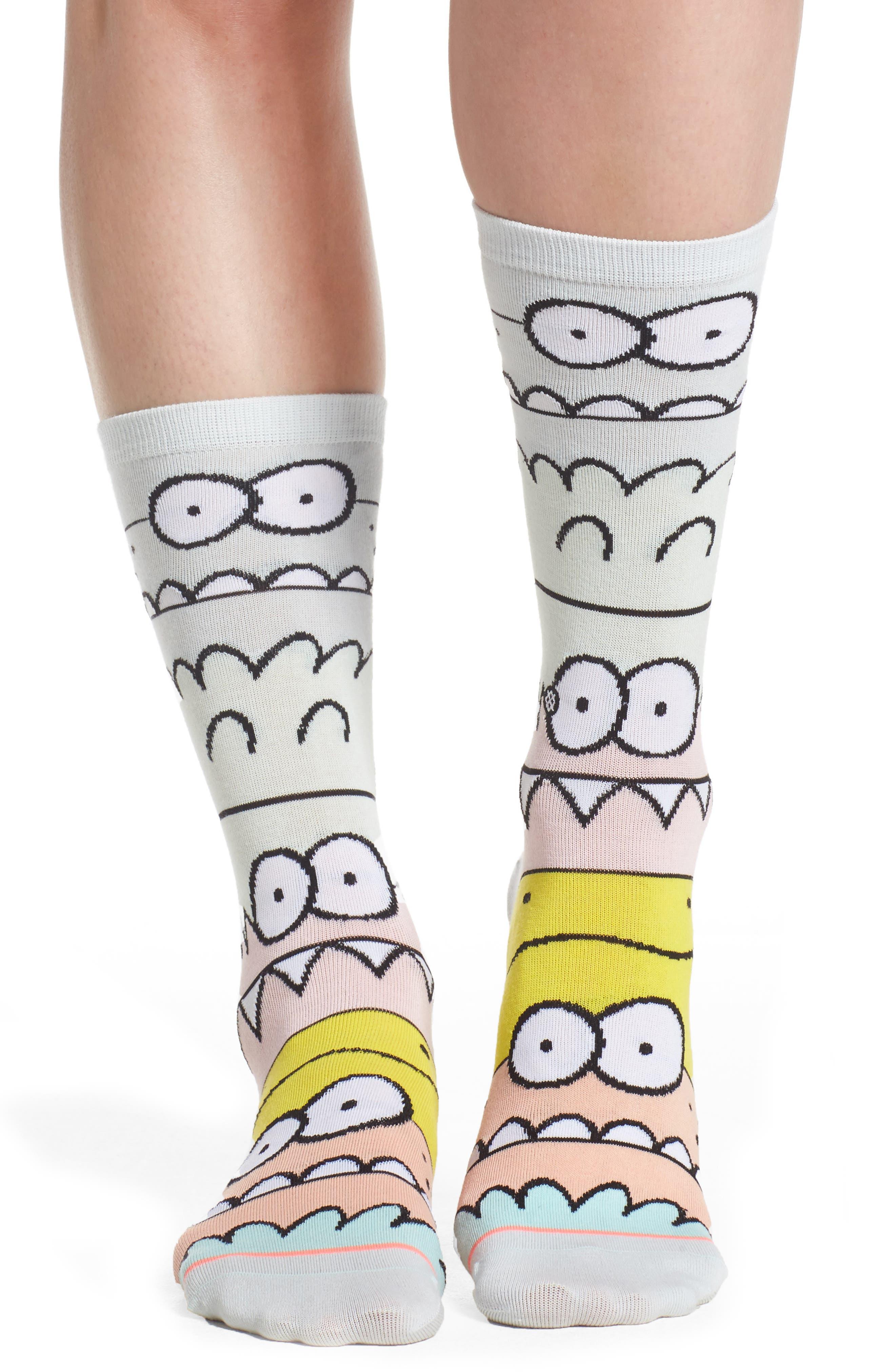 Monster Mash Socks,                         Main,                         color, Blue Multi