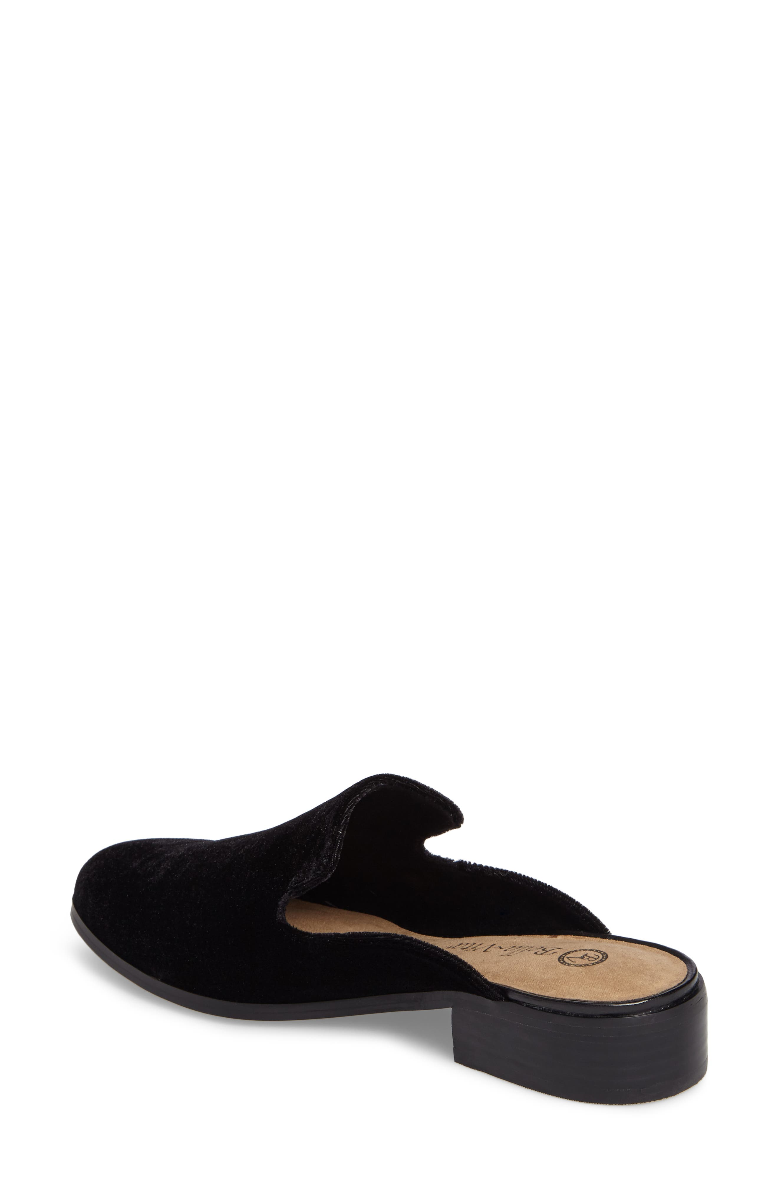 Briar II Loafer Mule,                             Alternate thumbnail 2, color,                             Black Fabric