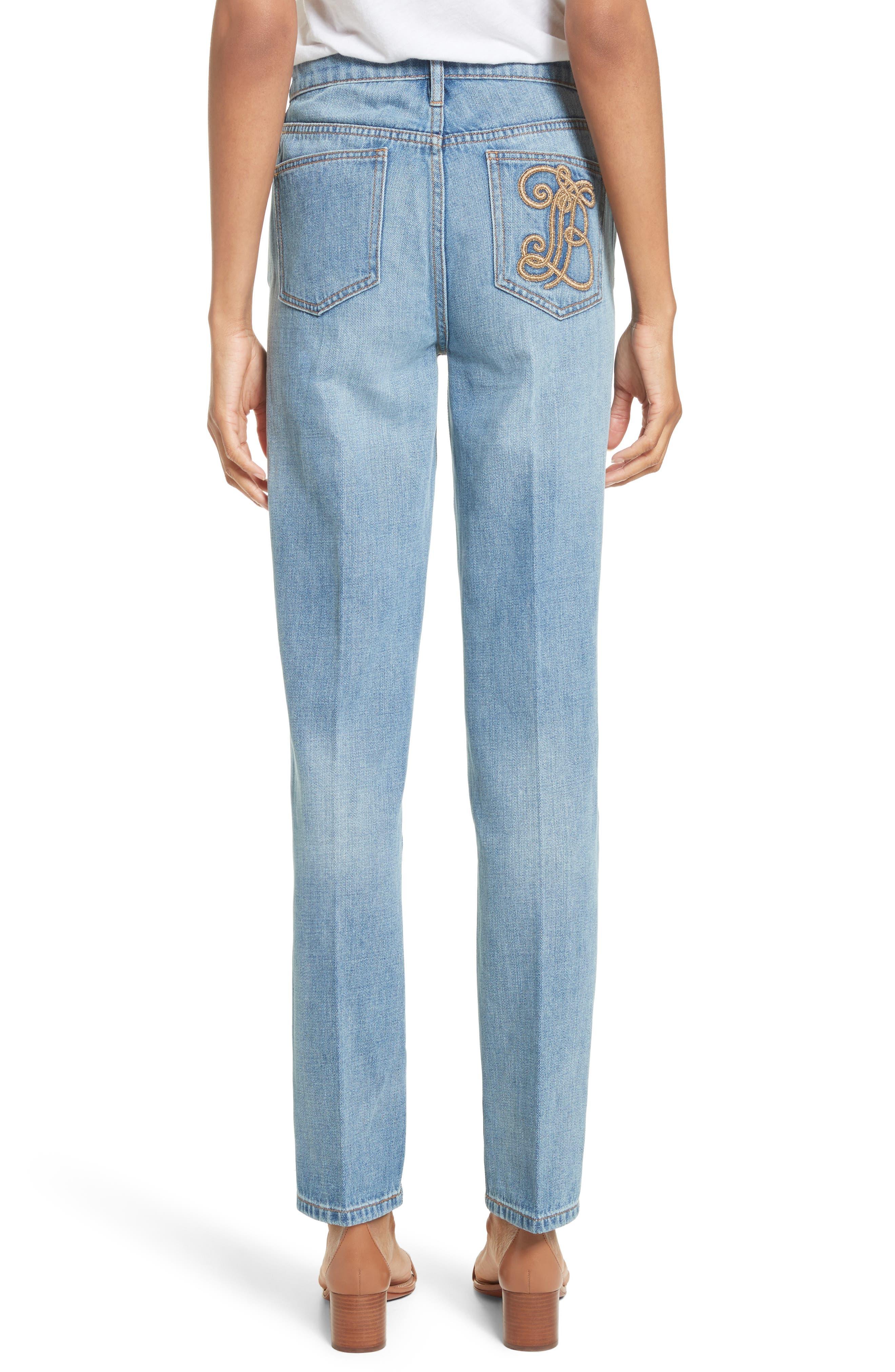 Alternate Image 2  - Tory Burch Betsy Straight Leg Jeans (Dusk Blue)