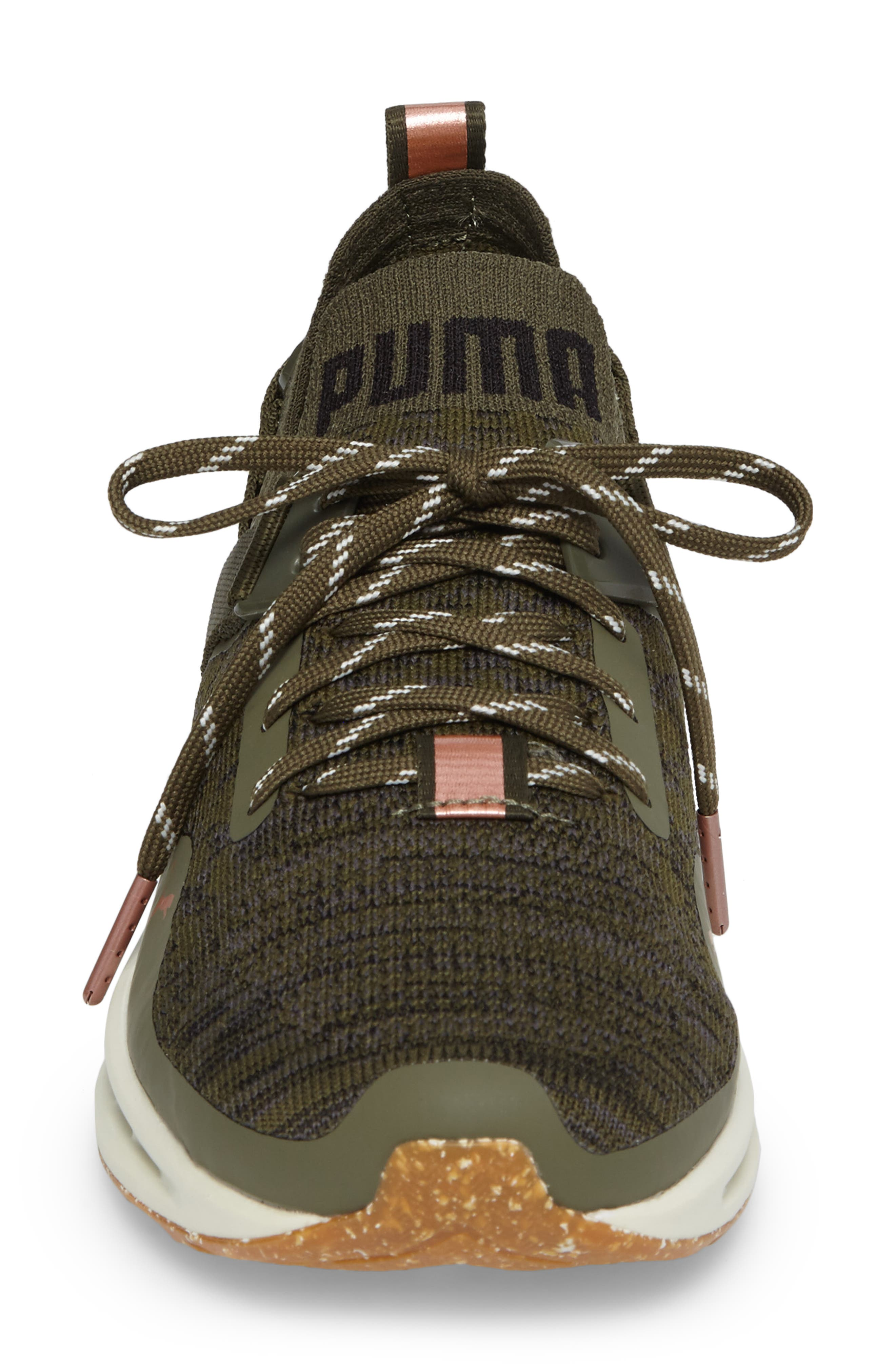 IGNITE evoKNIT Low Sneaker,                             Alternate thumbnail 4, color,                             Olive/ Black/ Quiet Shade