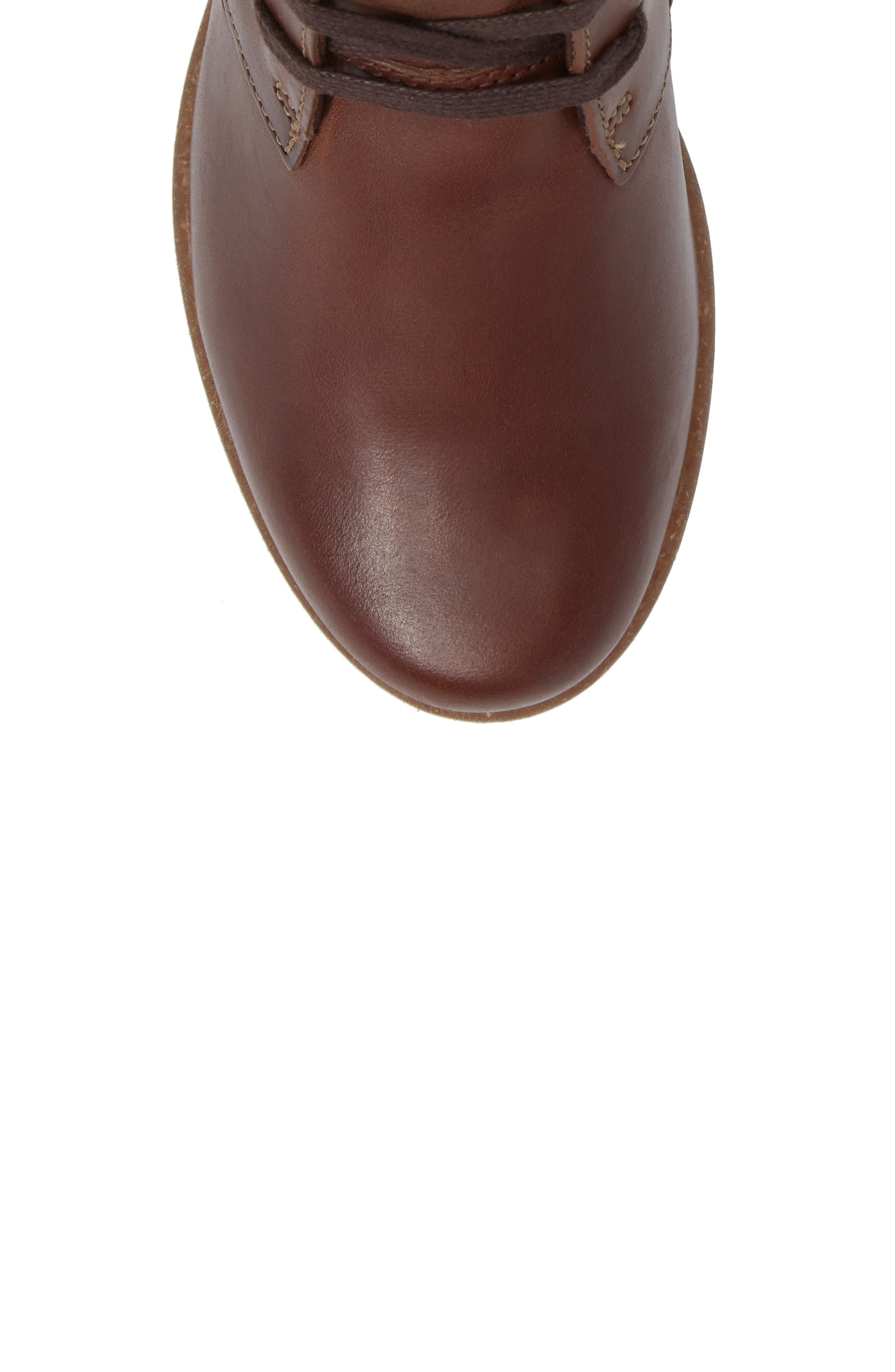 Wilrose Sage Bootie,                             Alternate thumbnail 5, color,                             Brown Nubuck Leather