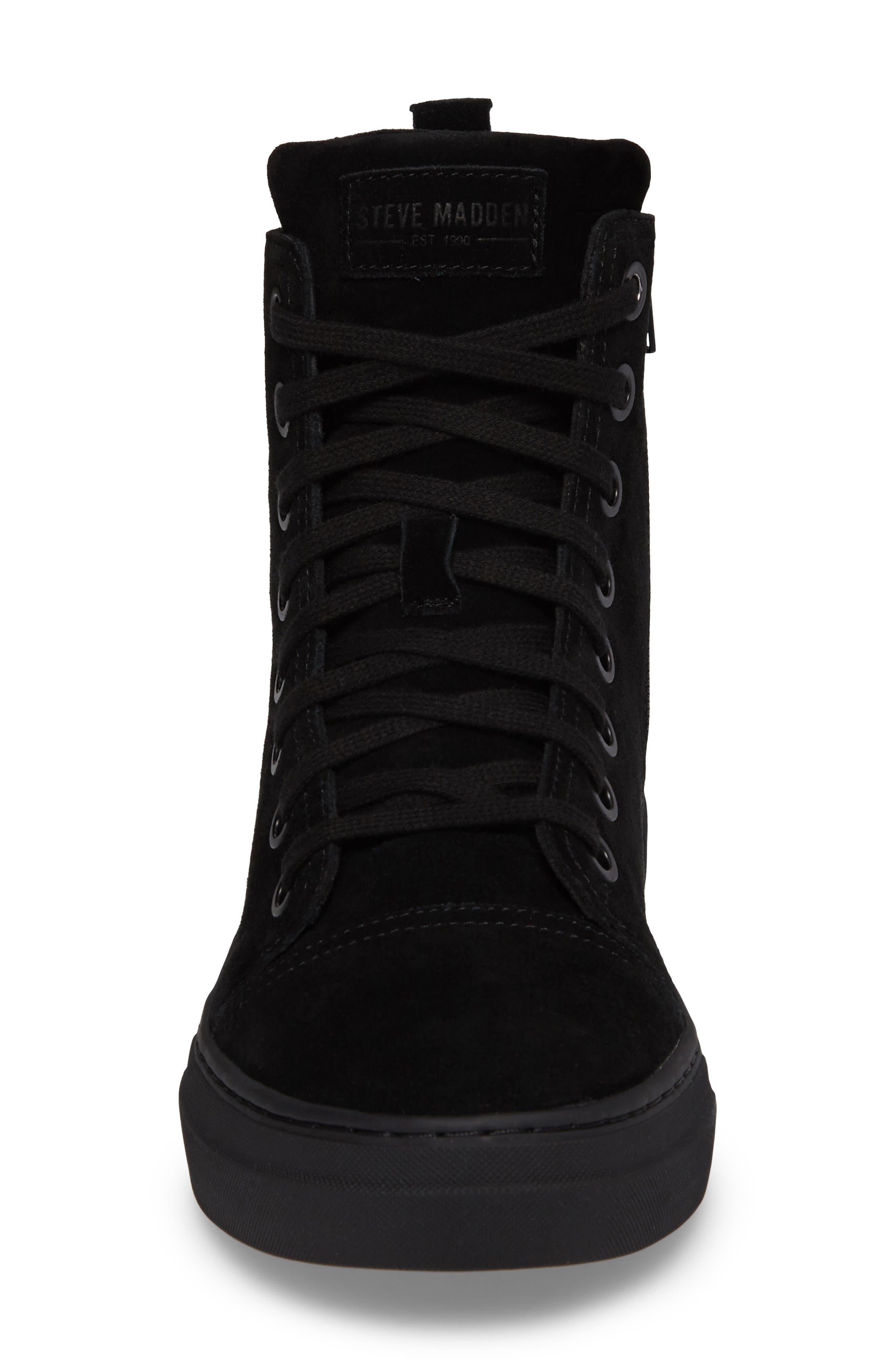 Ormisten Sneaker,                             Alternate thumbnail 5, color,                             Black Suede