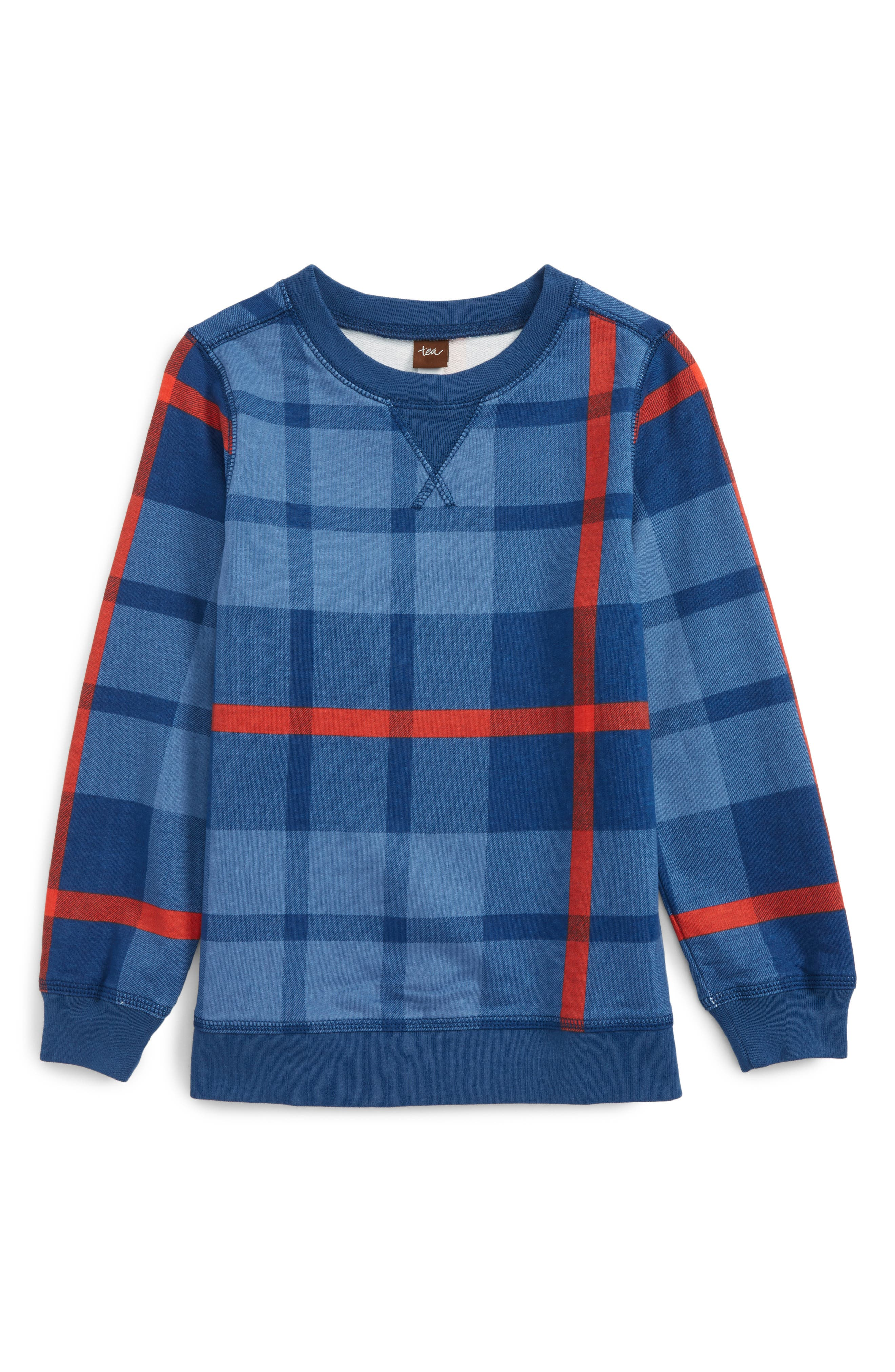 Archibald Plaid Pullover,                         Main,                         color, French Blue