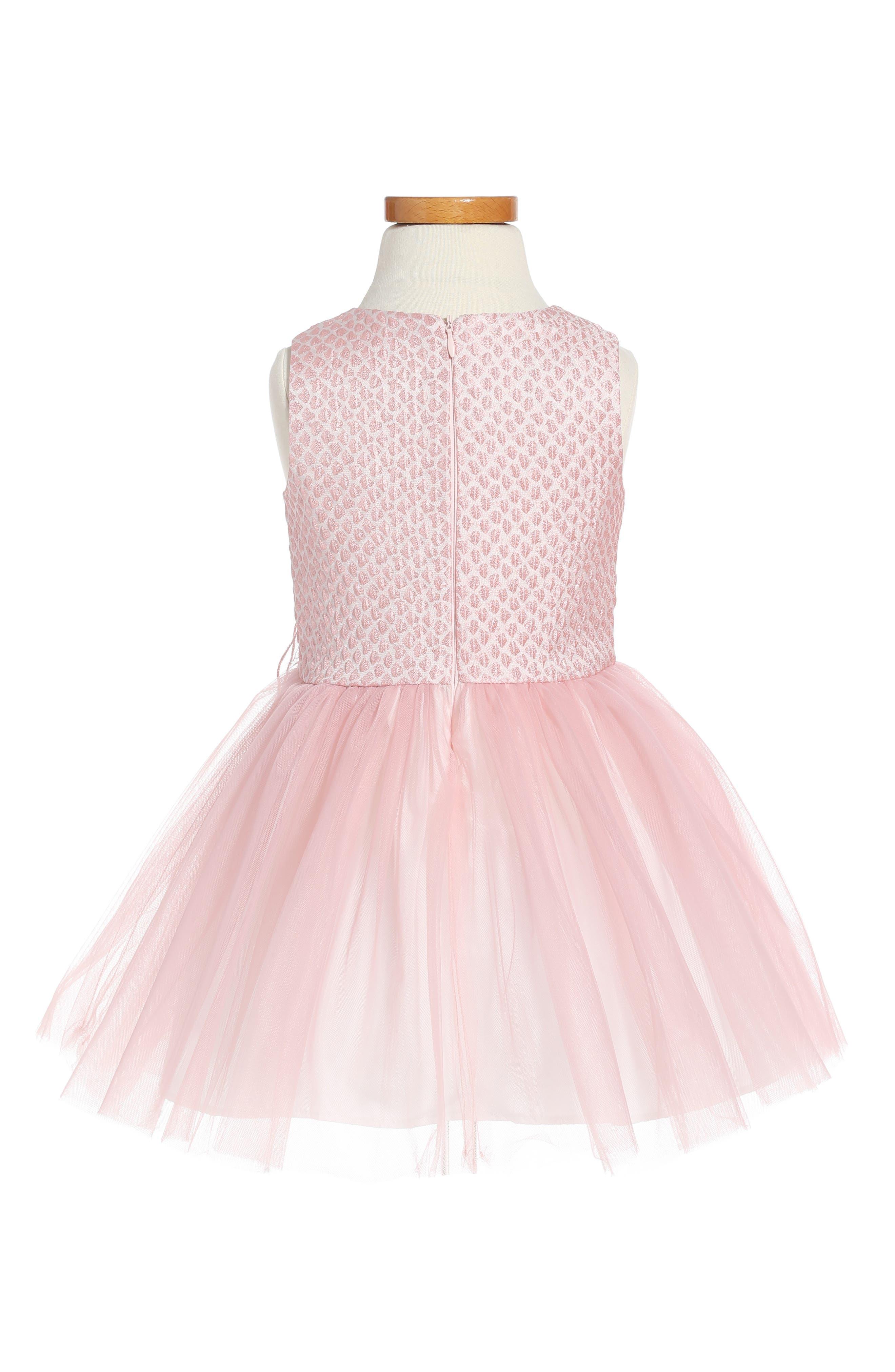 Alternate Image 2  - Pippa & Julie Brocade & Tulle Dress (Toddler Girls & Little Girls)