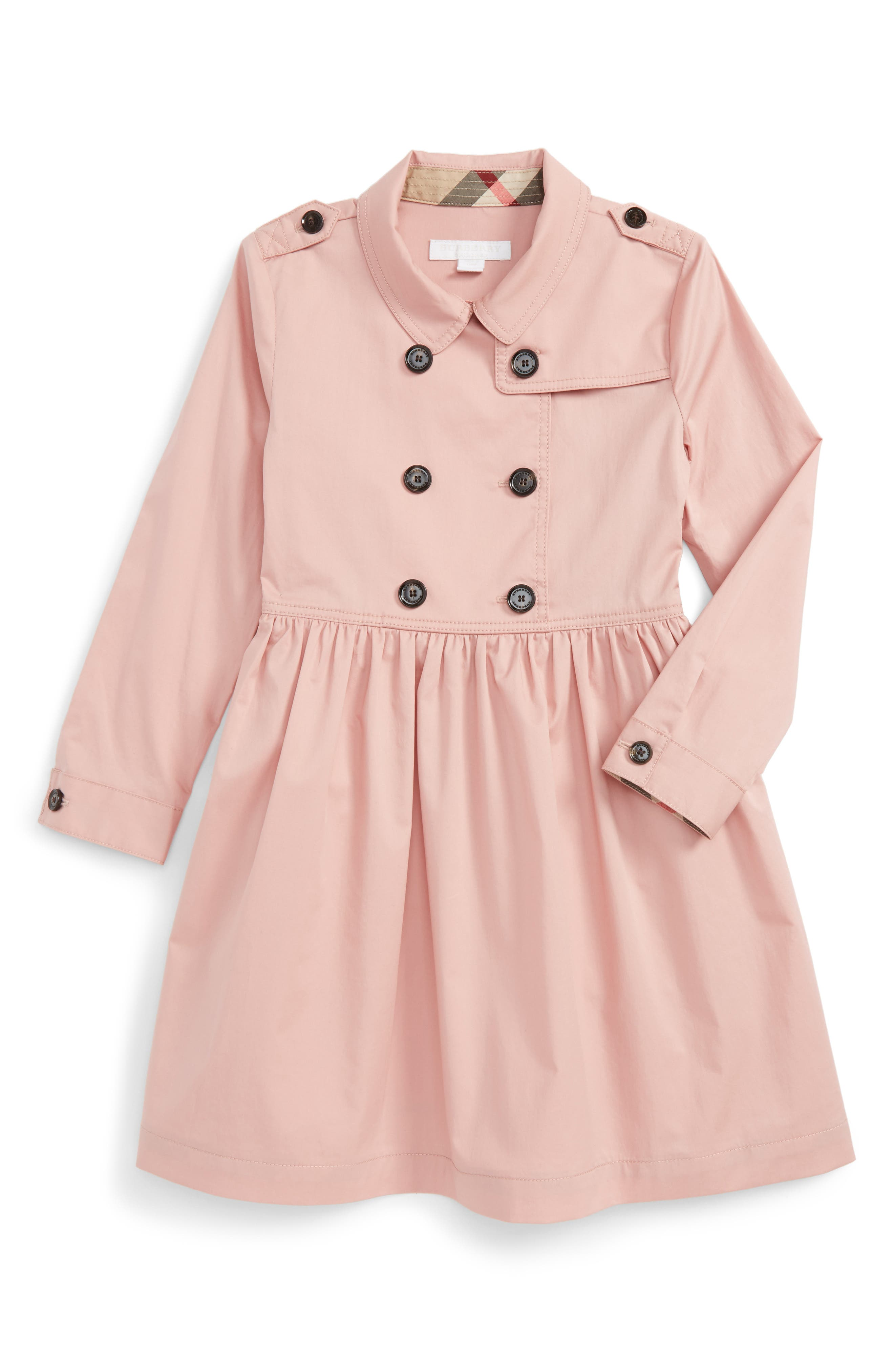Lillyana Trench Dress,                         Main,                         color, Pale Rose