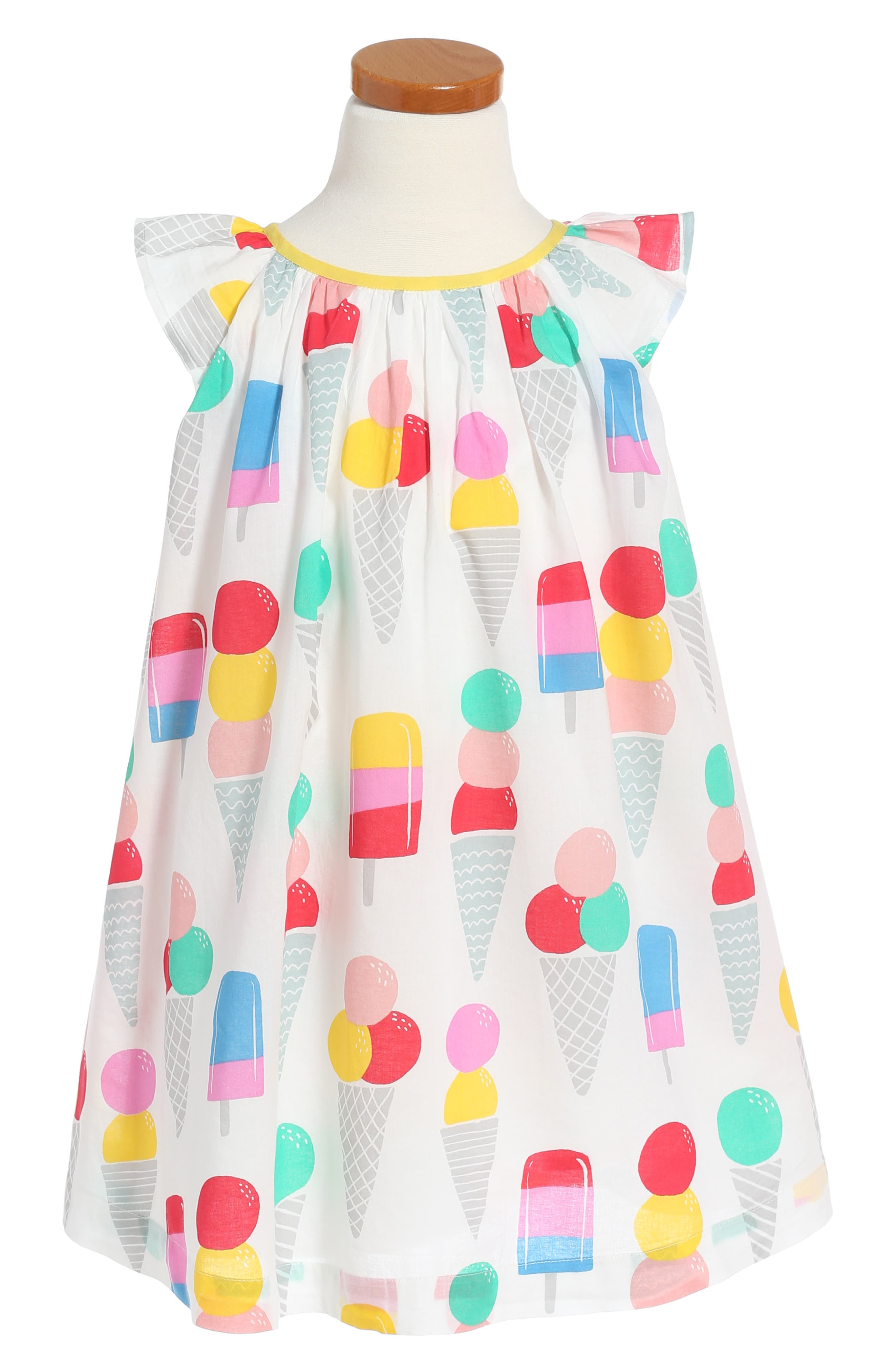 Mini Boden Print Dress (Toddler Girls, Little Girls & Big Girls)