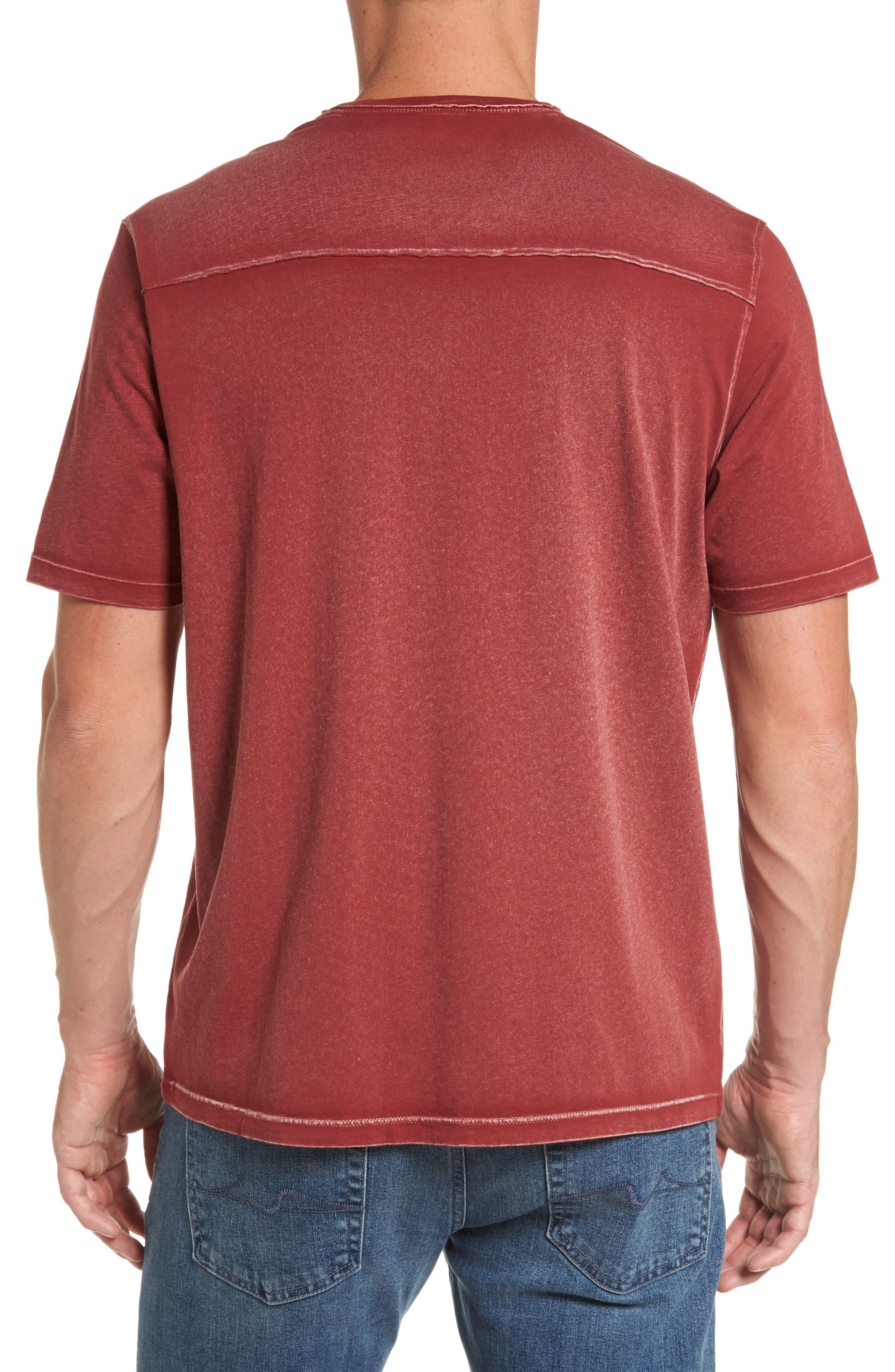 'Kahuna' V-Neck T-Shirt,                             Alternate thumbnail 2, color,                             Ruby Wine