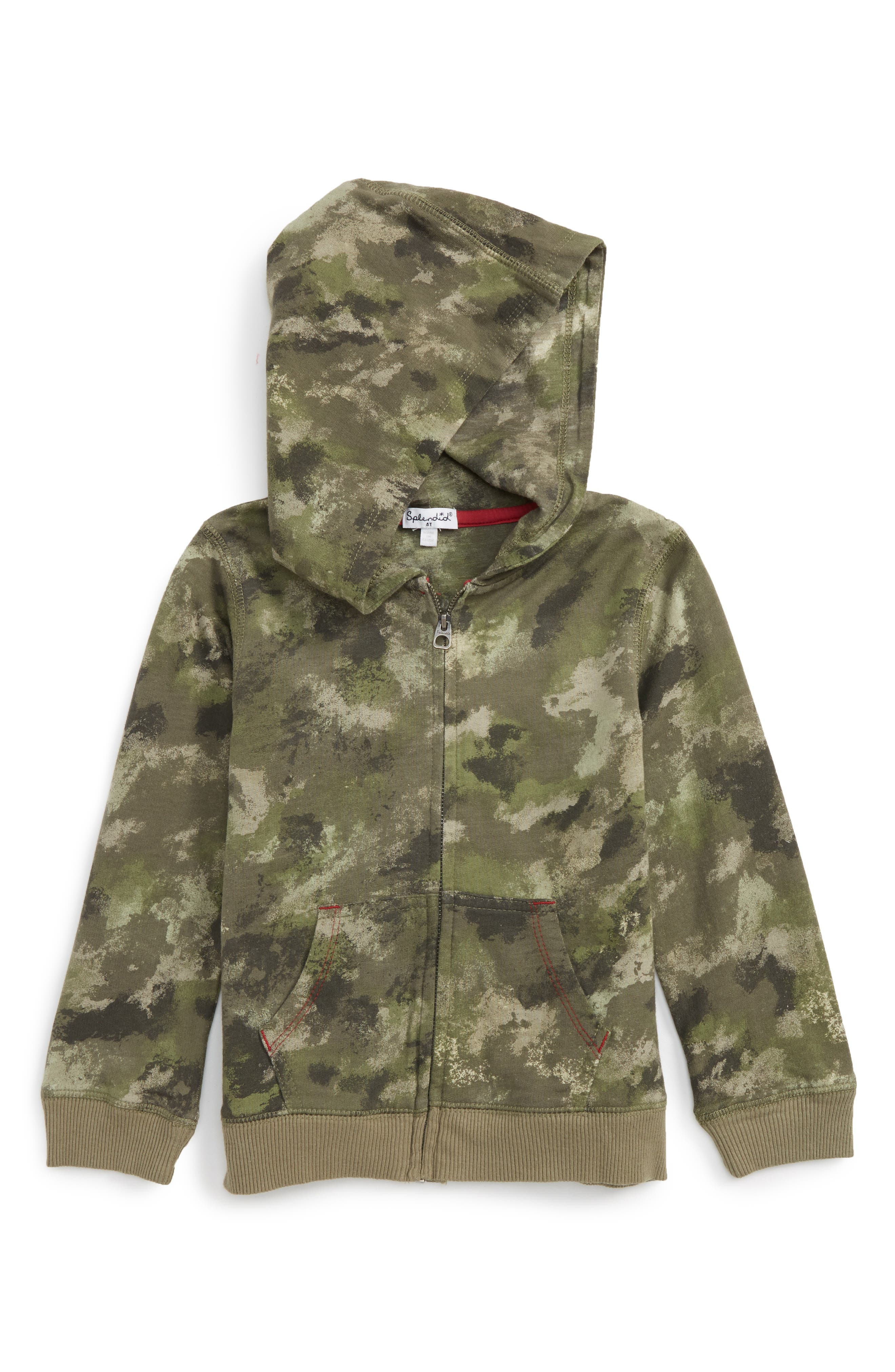Alternate Image 1 Selected - Splendid Camo Hoodie (Baby Boys)
