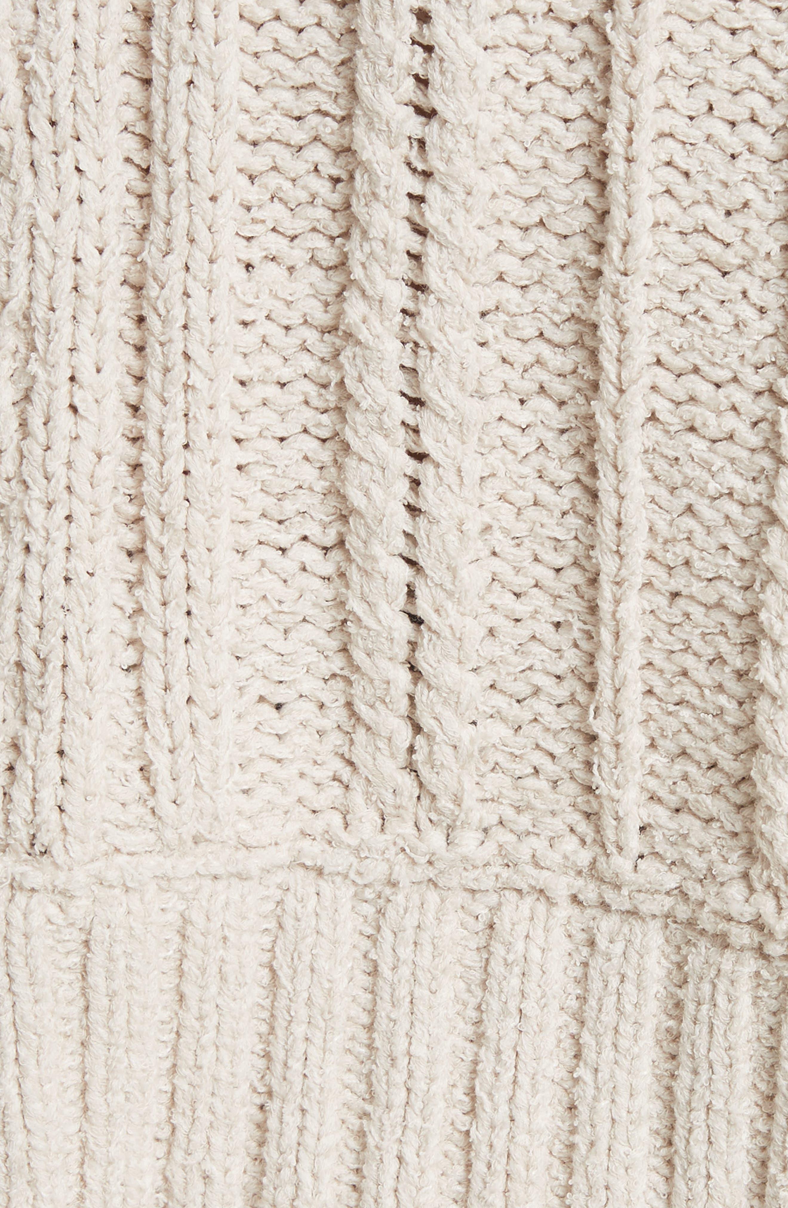 Alternate Image 5  - Free People Tierra Cable Knit Hoodie