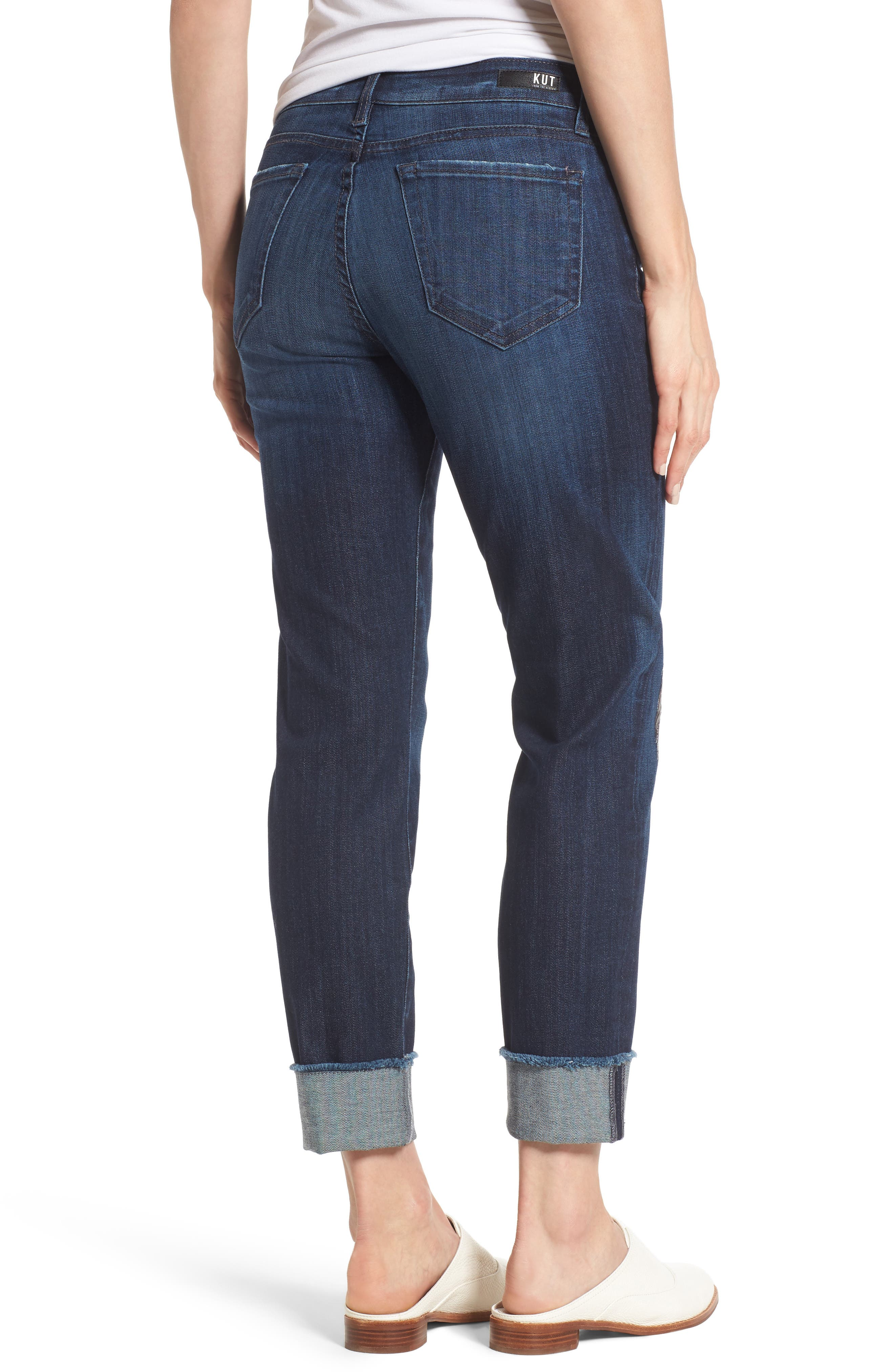 Alternate Image 2  - KUT from the Kloth Amy Cuffed Crop Jeans (Overt)