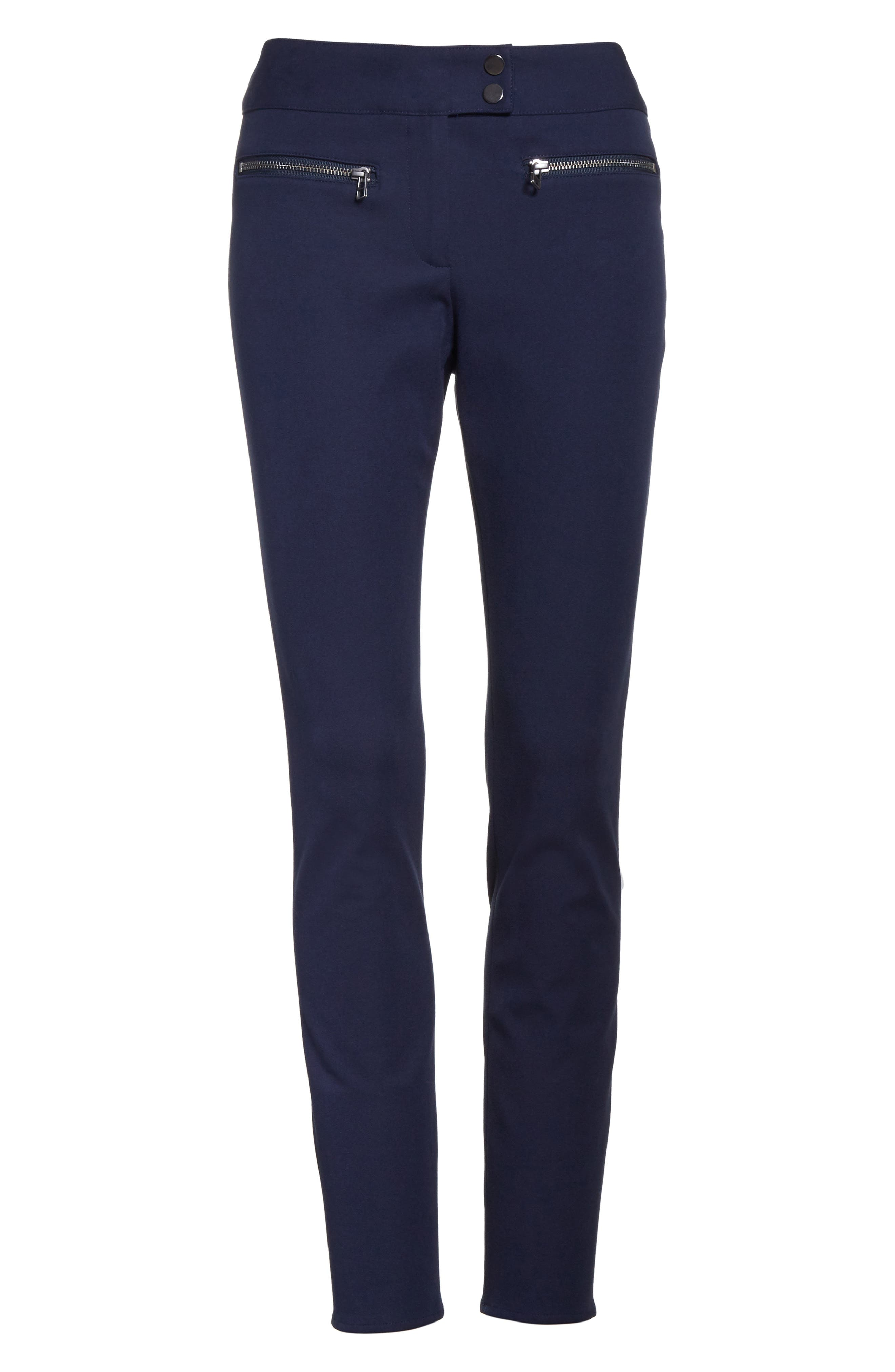 Ankle Skinny Pants,                             Alternate thumbnail 6, color,                             Navy