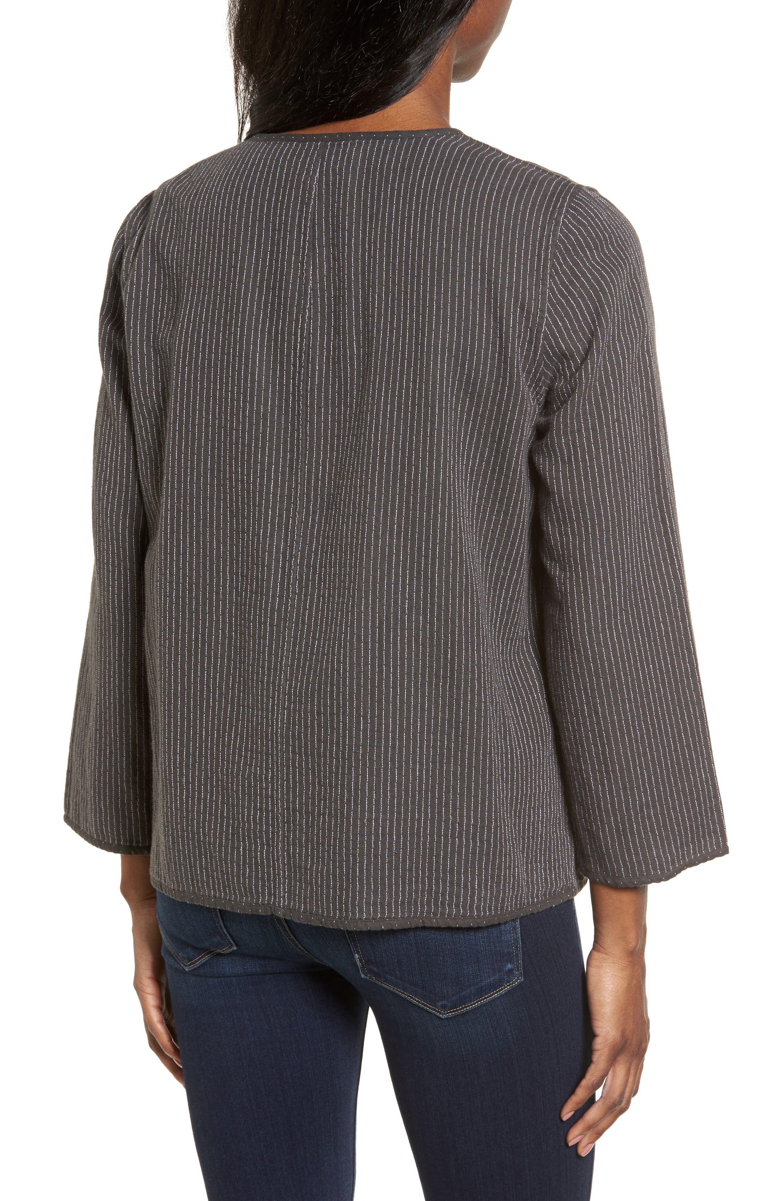 Alternate Image 2  - Eileen Fisher Reversible Organic Cotton Jacket