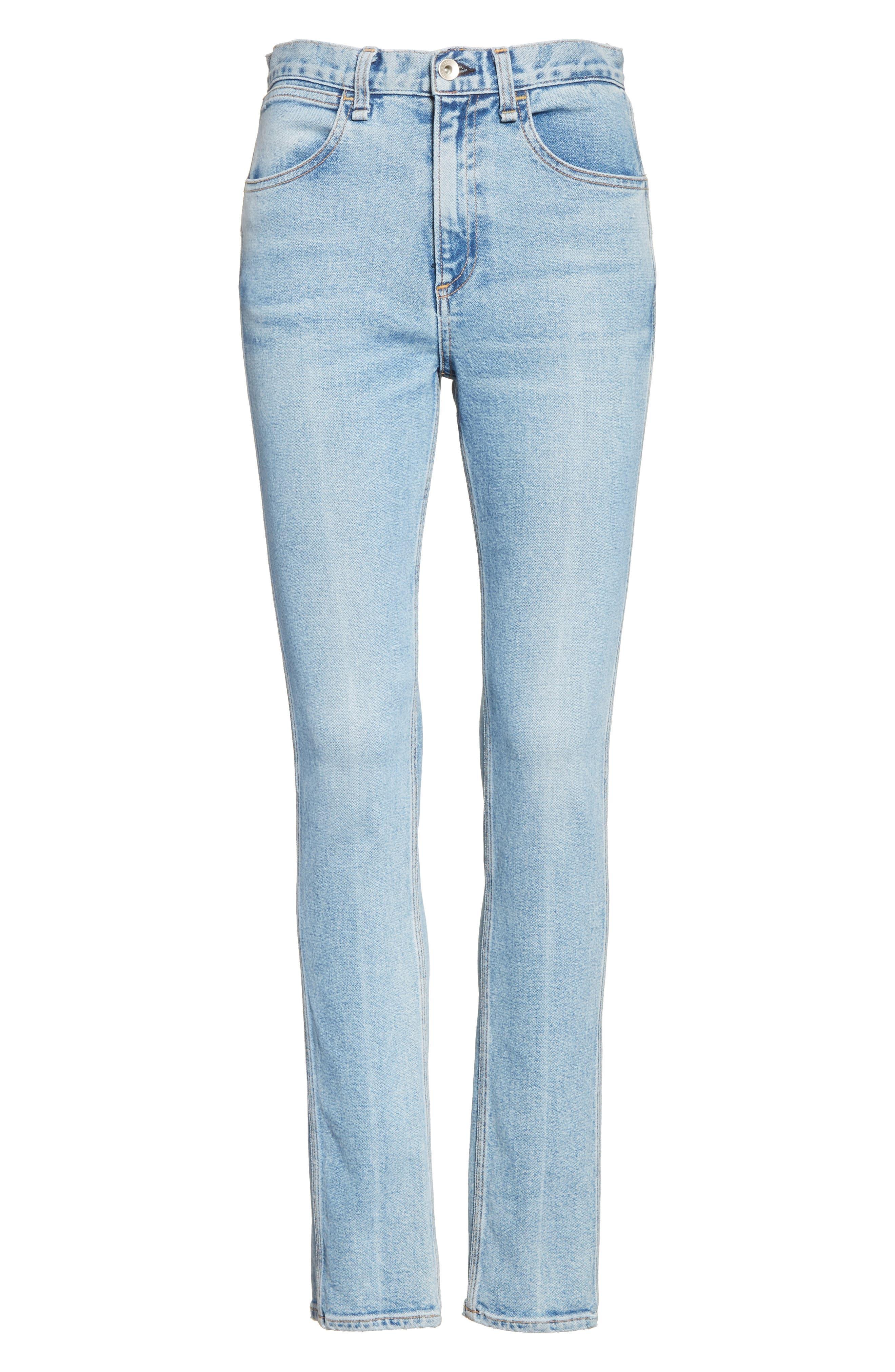Alternate Image 7  - rag & bone/JEAN Lou High Waist Skinny Jeans (Hotbird)