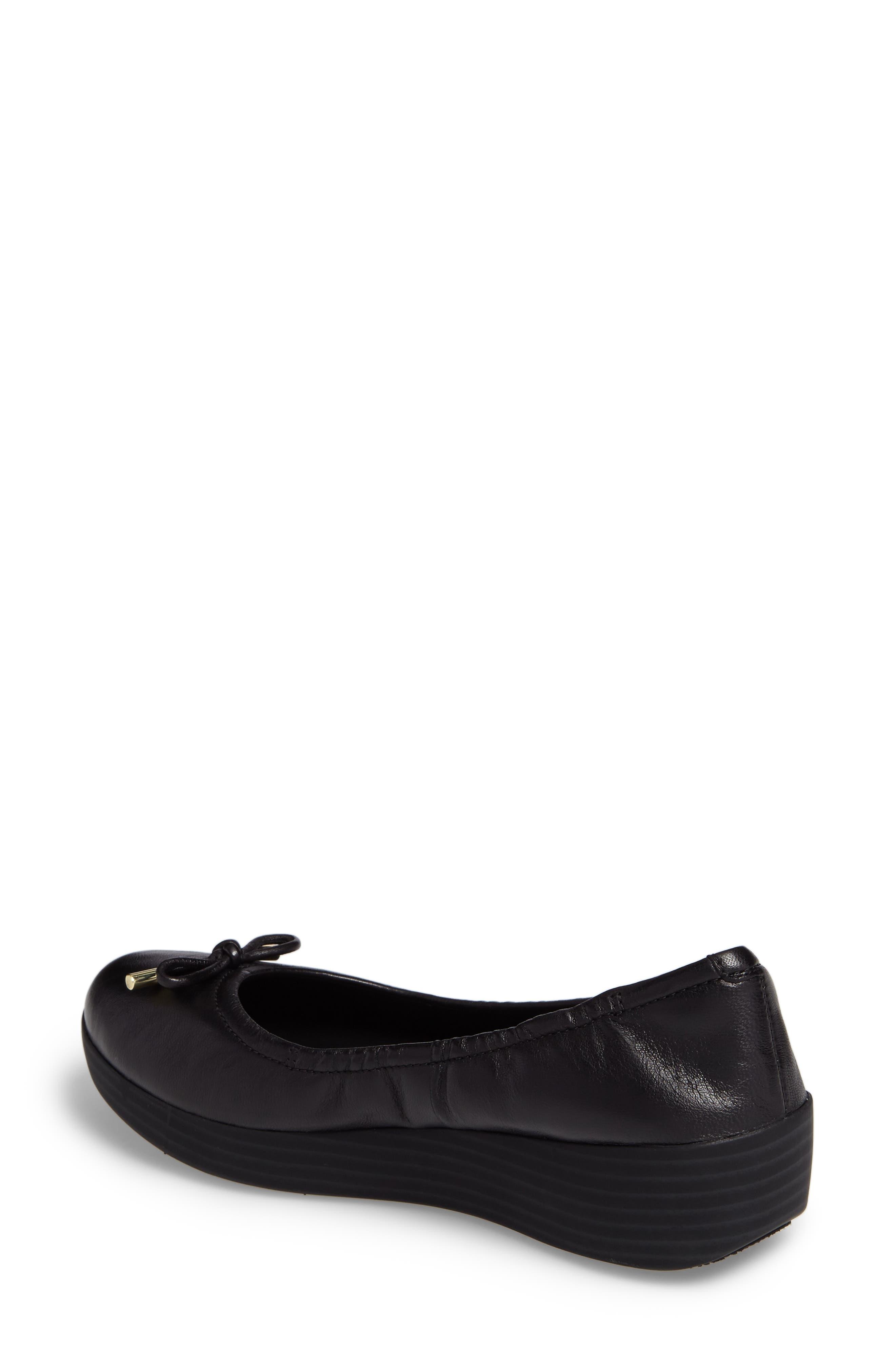 Superbendy Ballerina Flat,                             Alternate thumbnail 2, color,                             Black Leather