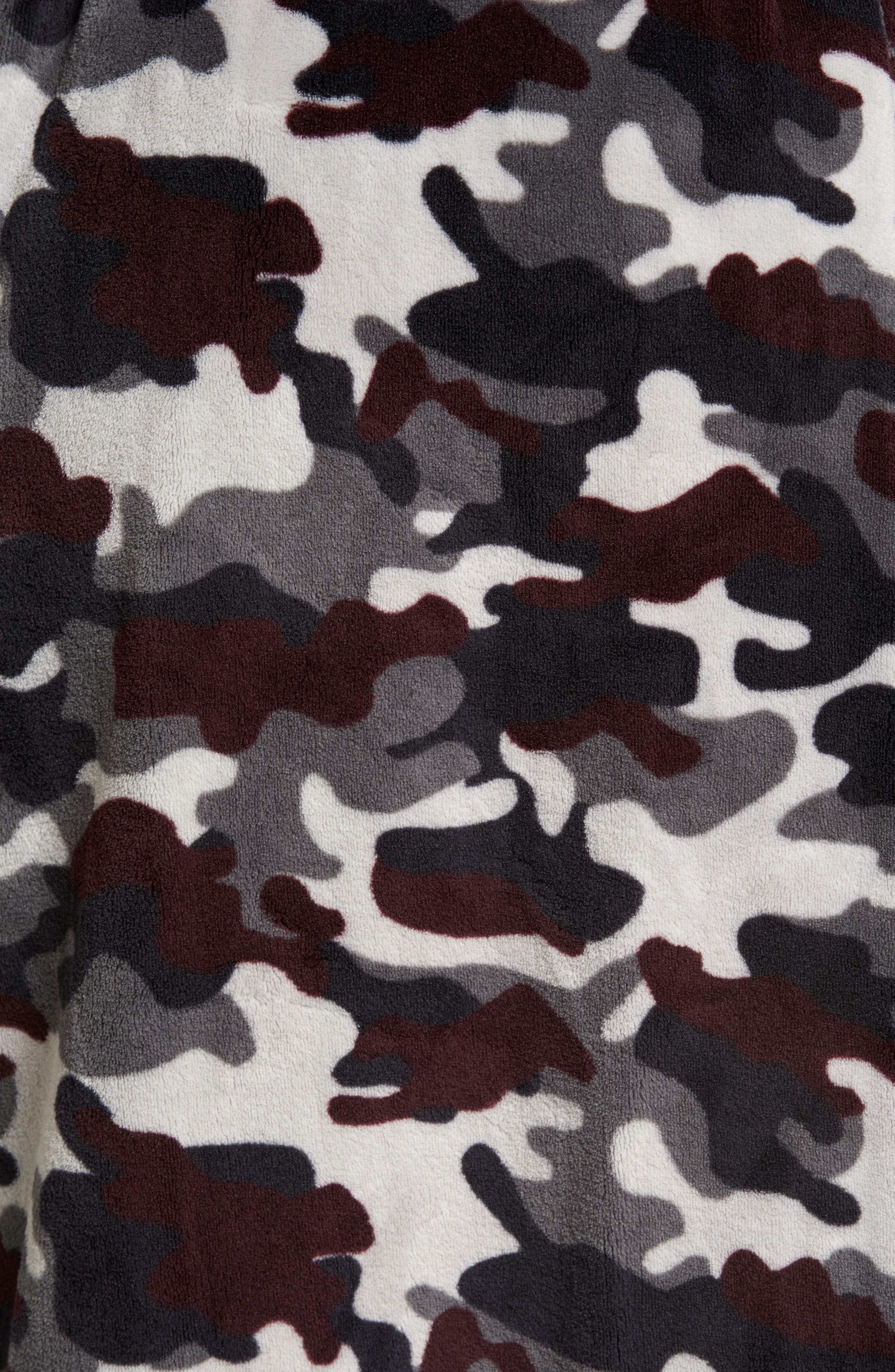 Cold Conquest Robe,                             Alternate thumbnail 5, color,                             Charcoal Camo