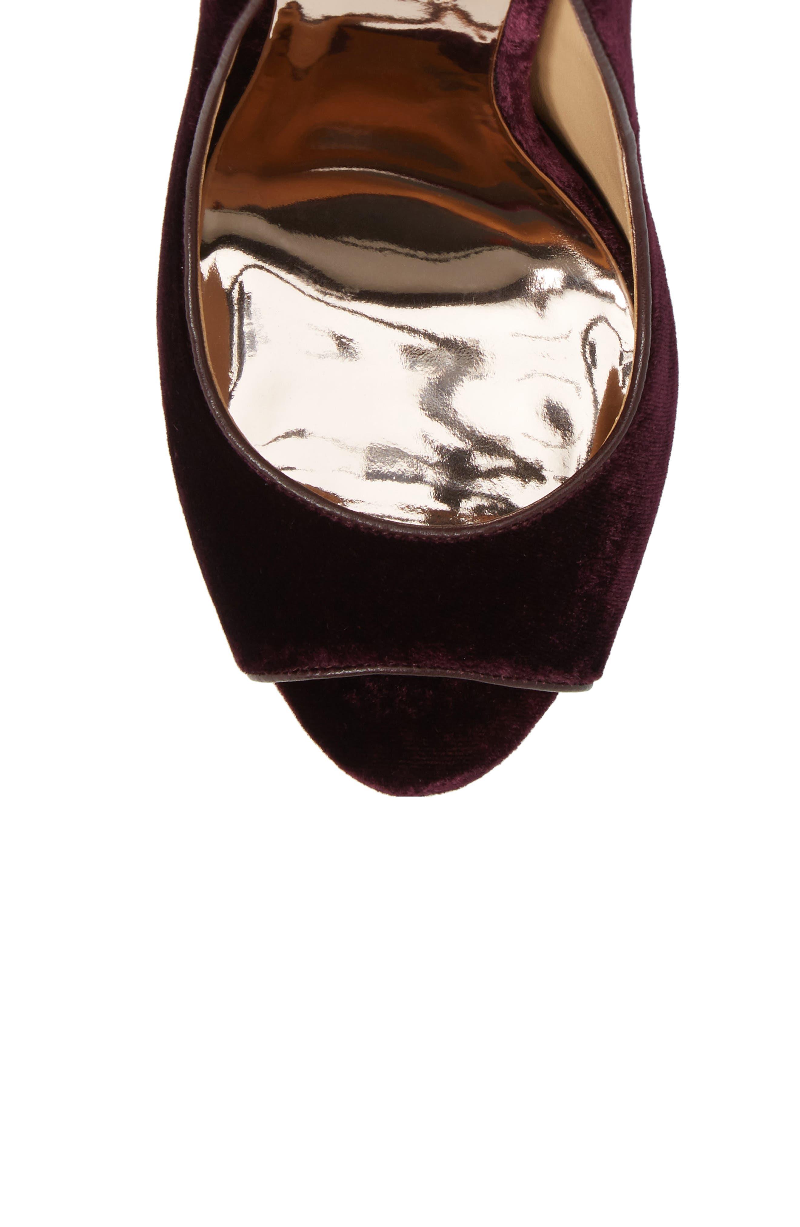Alternate Image 5  - Badgley Mischka 'Kiara' Crystal Back Open Toe Pump (Women)