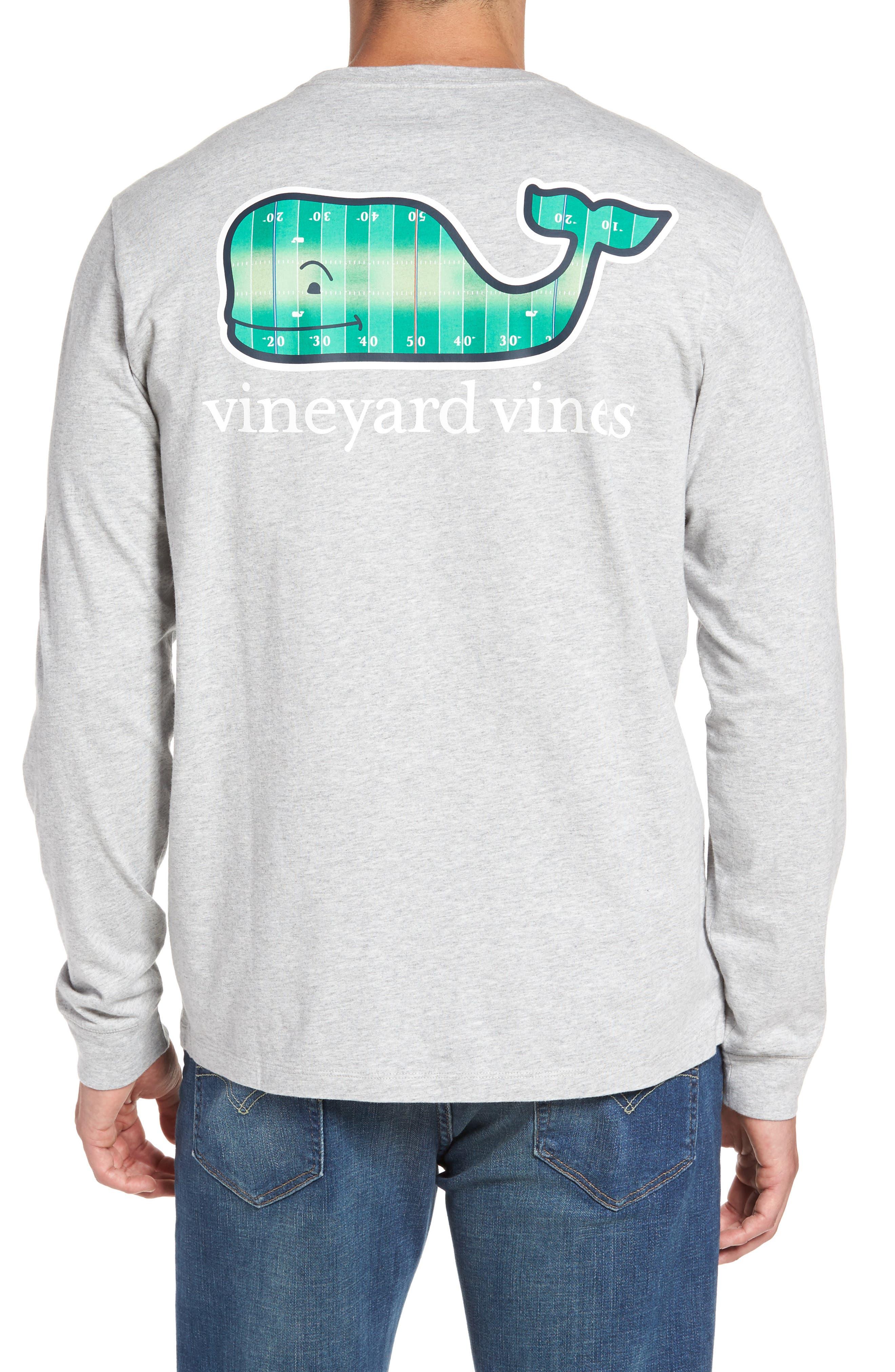 vineyard vines Football Field Whale Logo T-Shirt