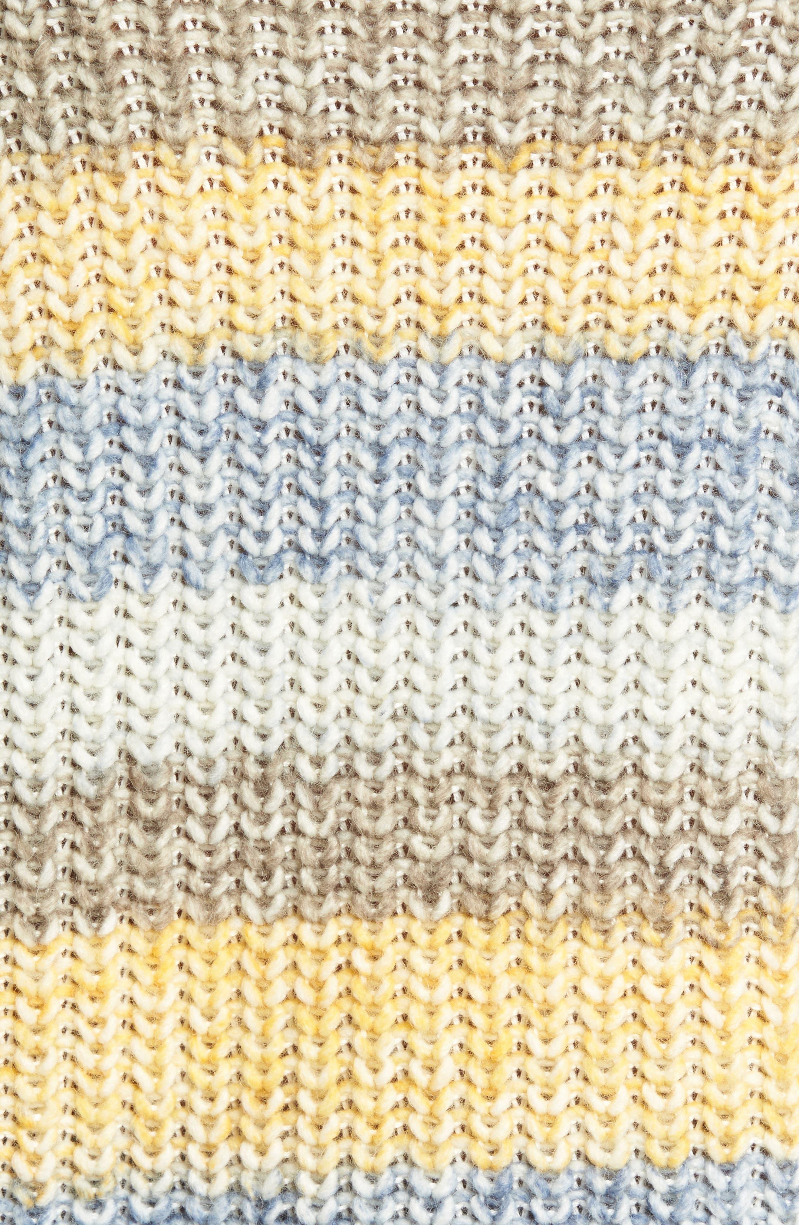 Hive Knit Fisherman Sweater,                             Alternate thumbnail 5, color,                             Sun Gold
