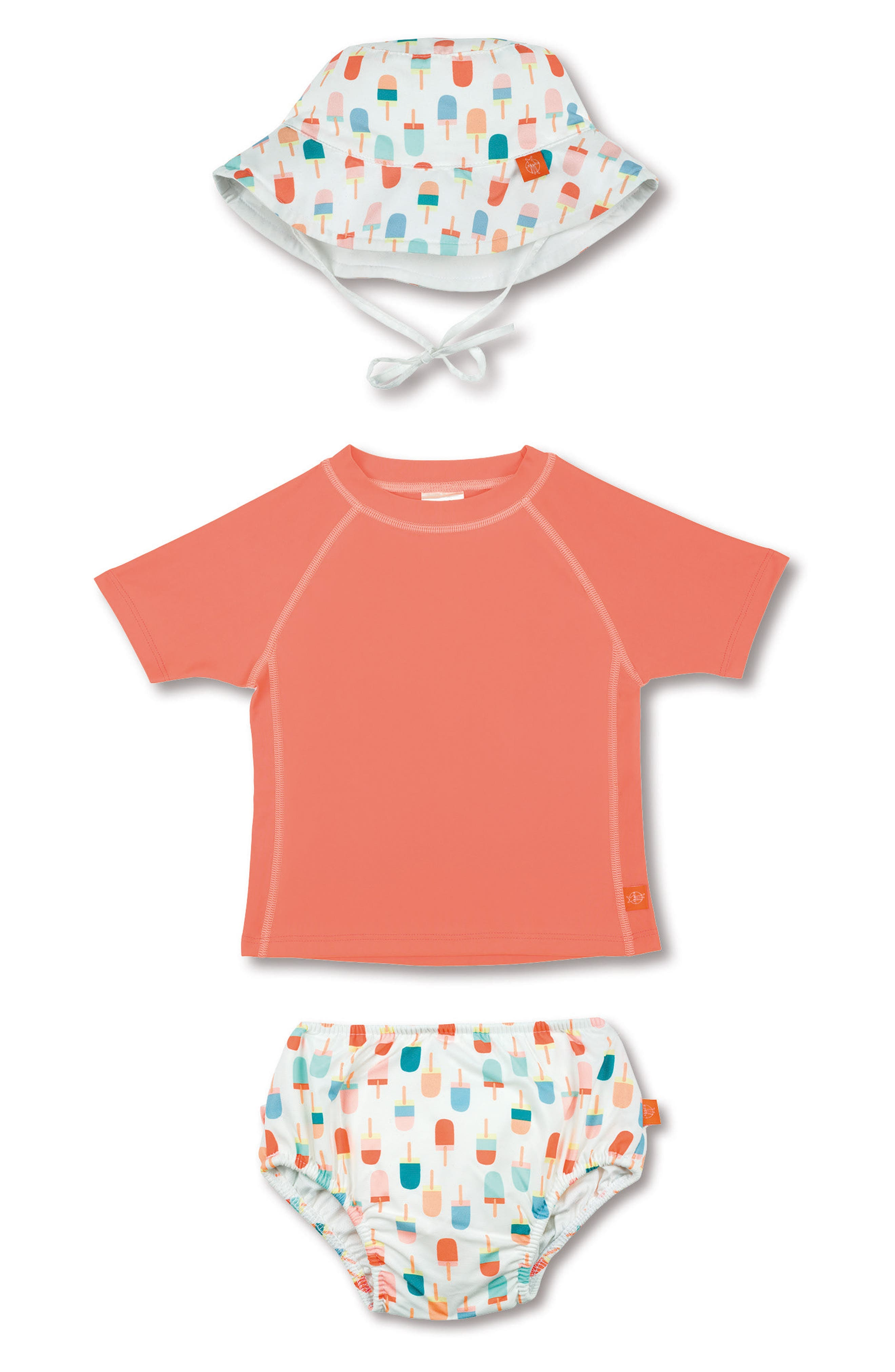 Main Image - Lassig Two-Piece Rashguard Swimsuit & Hat Set (Baby & Toddler)