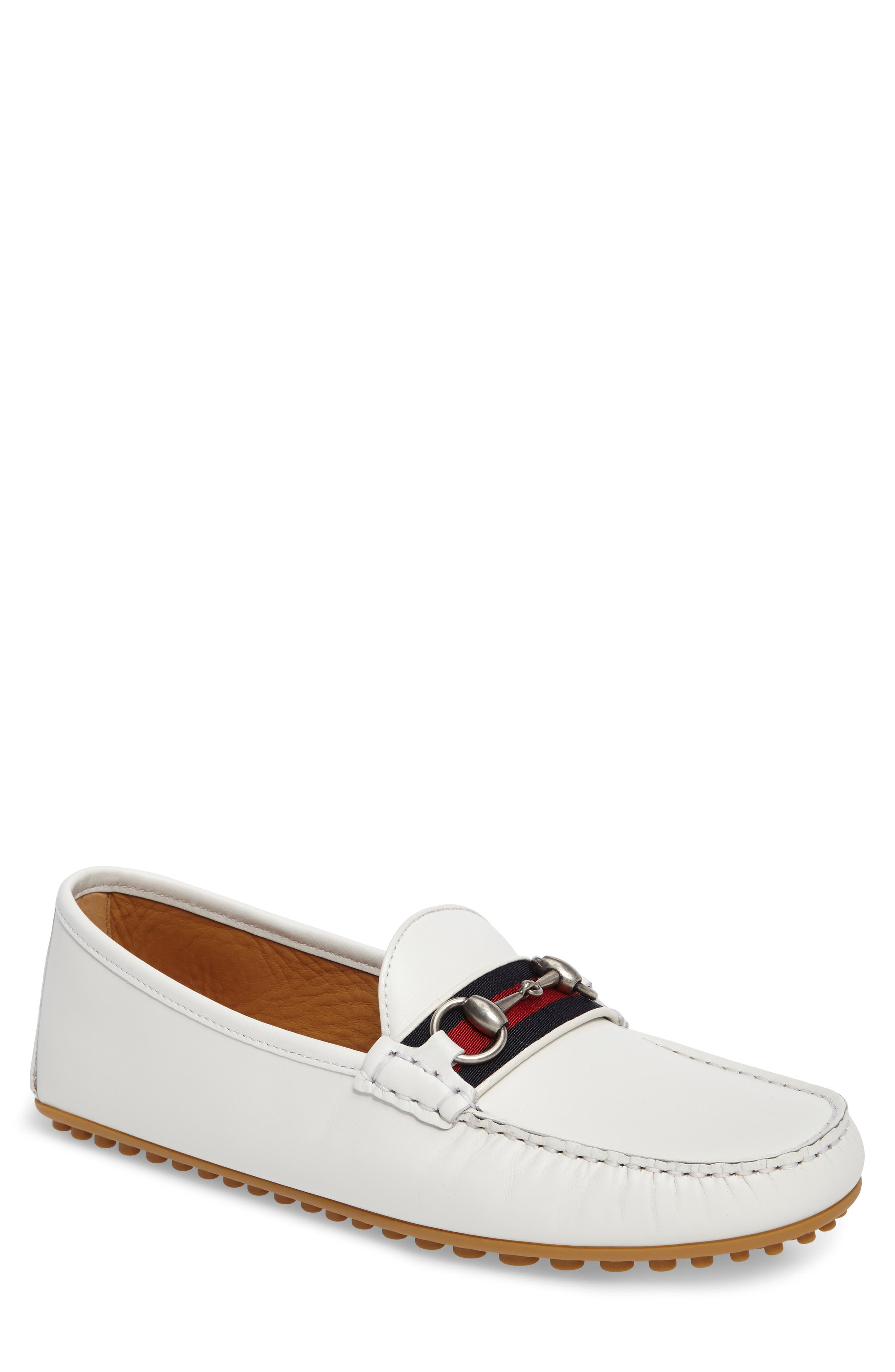 Kanye Bit Loafer,                         Main,                         color, White Leather