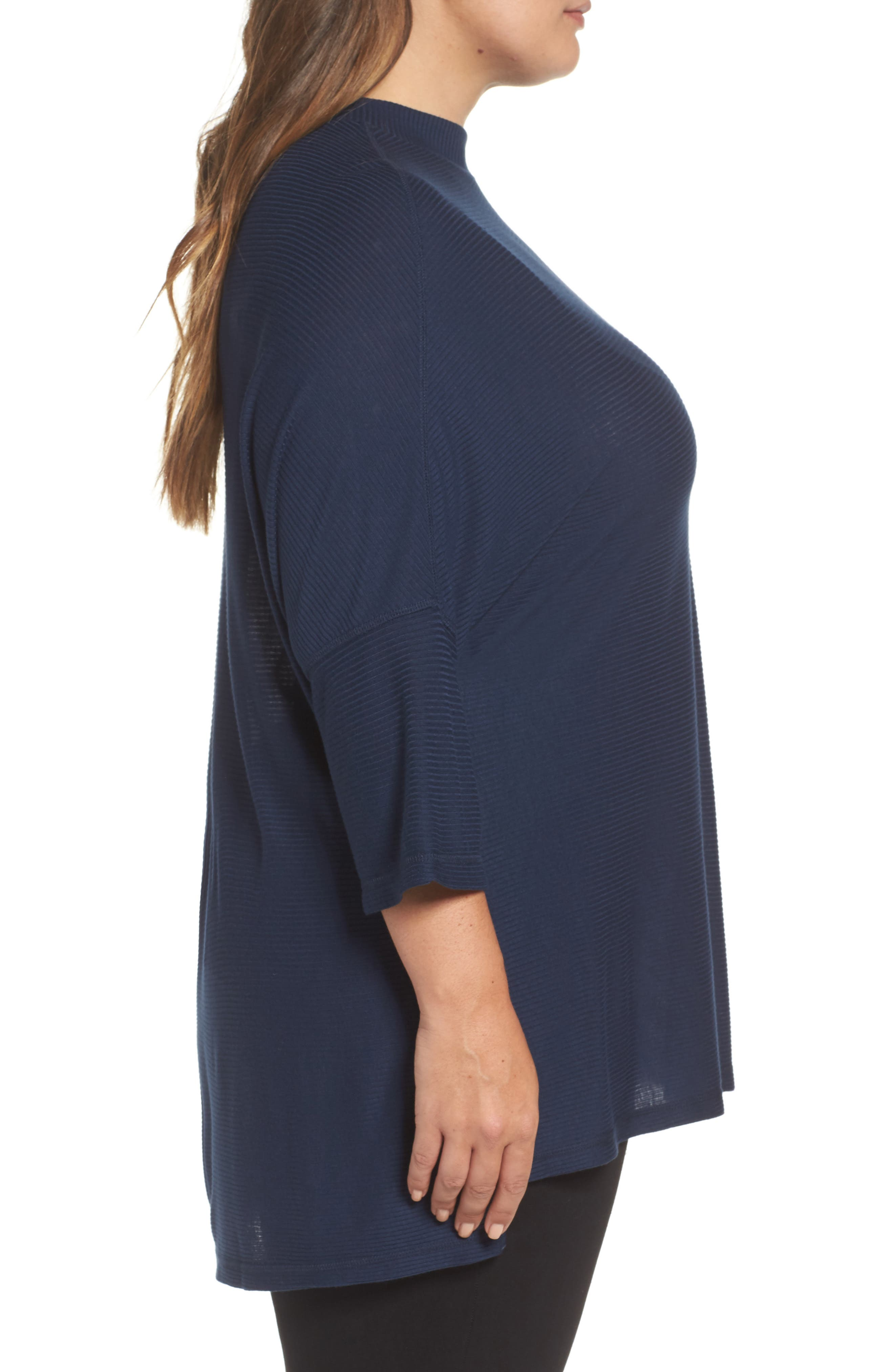 Alternate Image 3  - Melissa McCarthy Seven7 Mock Neck Rib Knit Top (Plus Size)