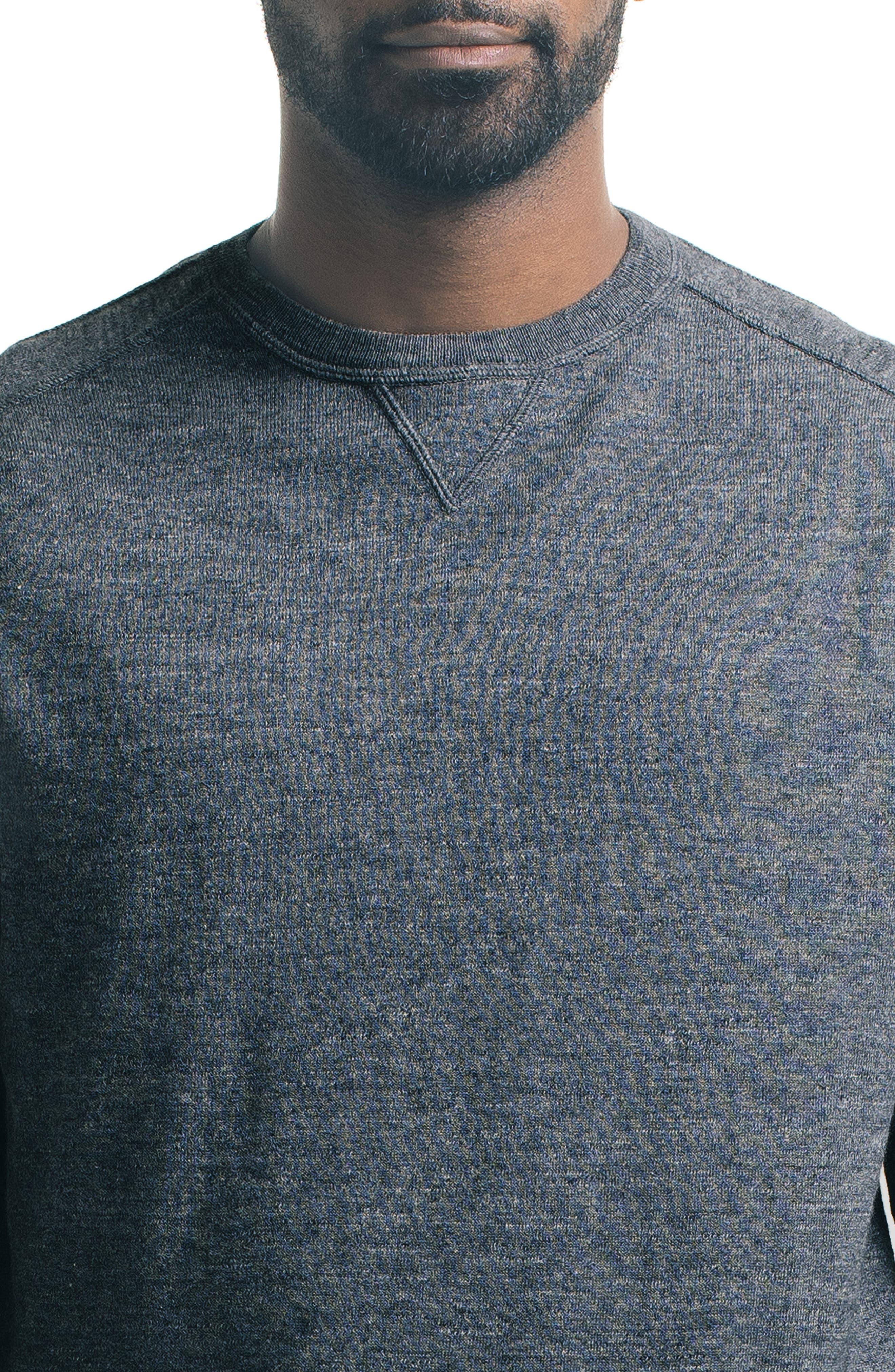 Slub Pullover Sweater,                             Alternate thumbnail 4, color,                             Charcoal