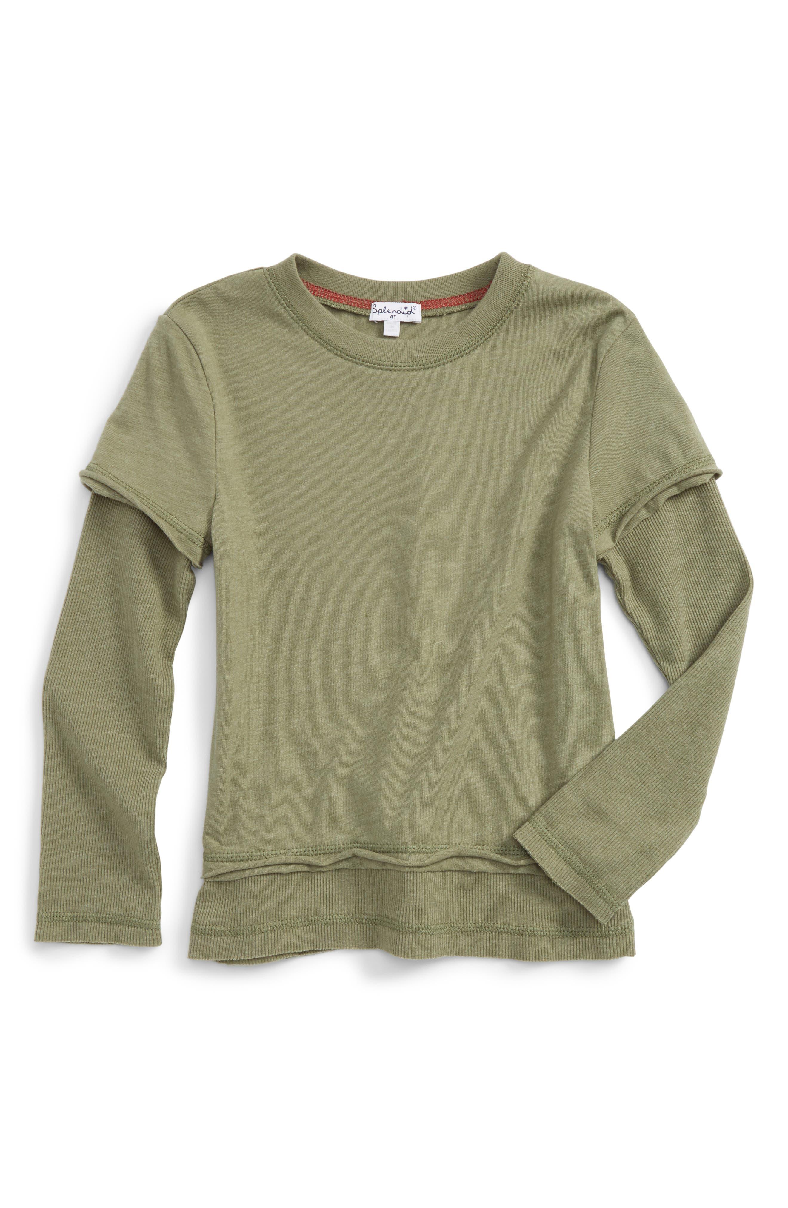 Long Sleeve T-Shirt,                             Main thumbnail 1, color,                             Olive