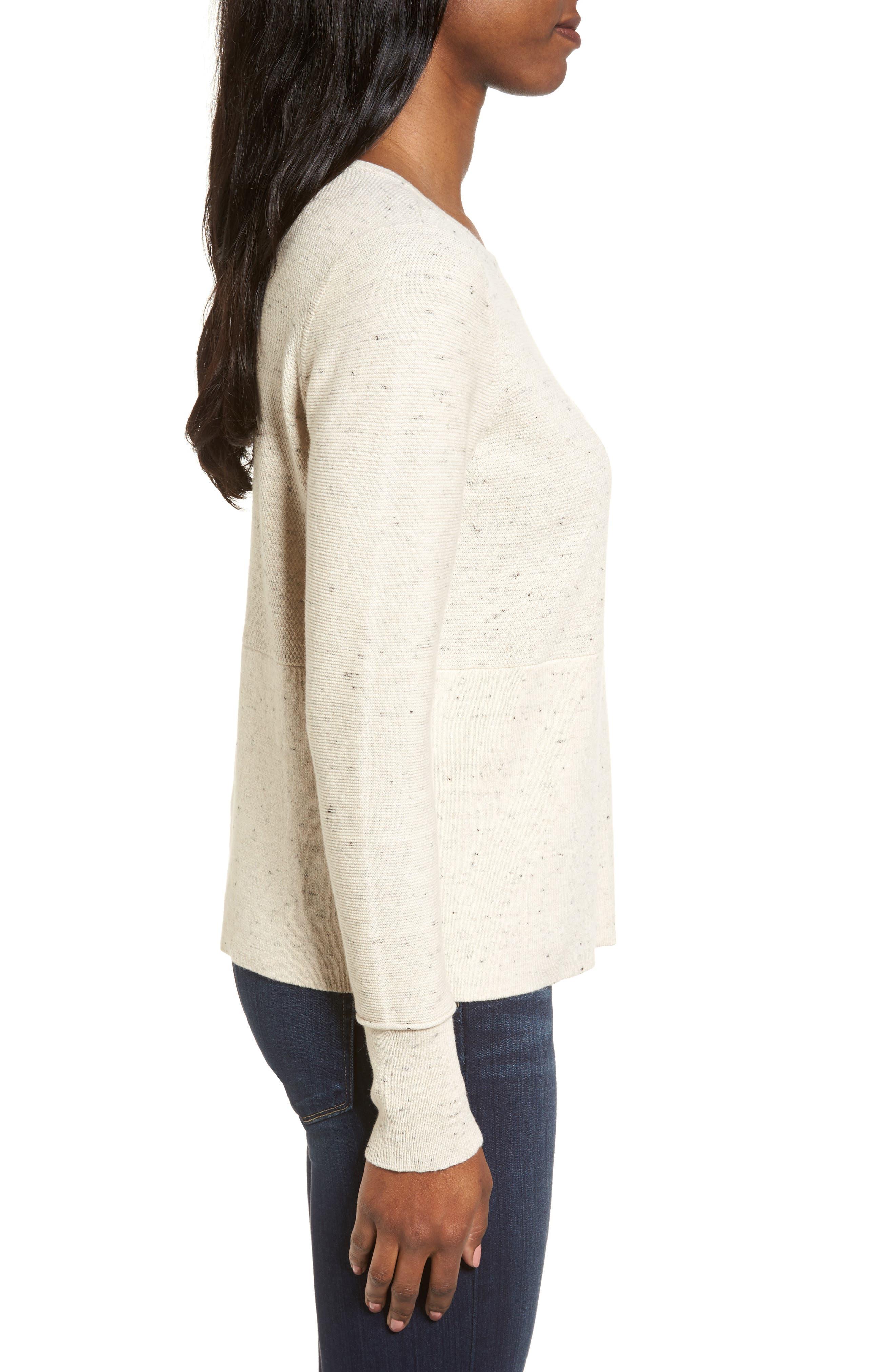 Alternate Image 3  - Eileen Fisher Mixed Stitch Sweater