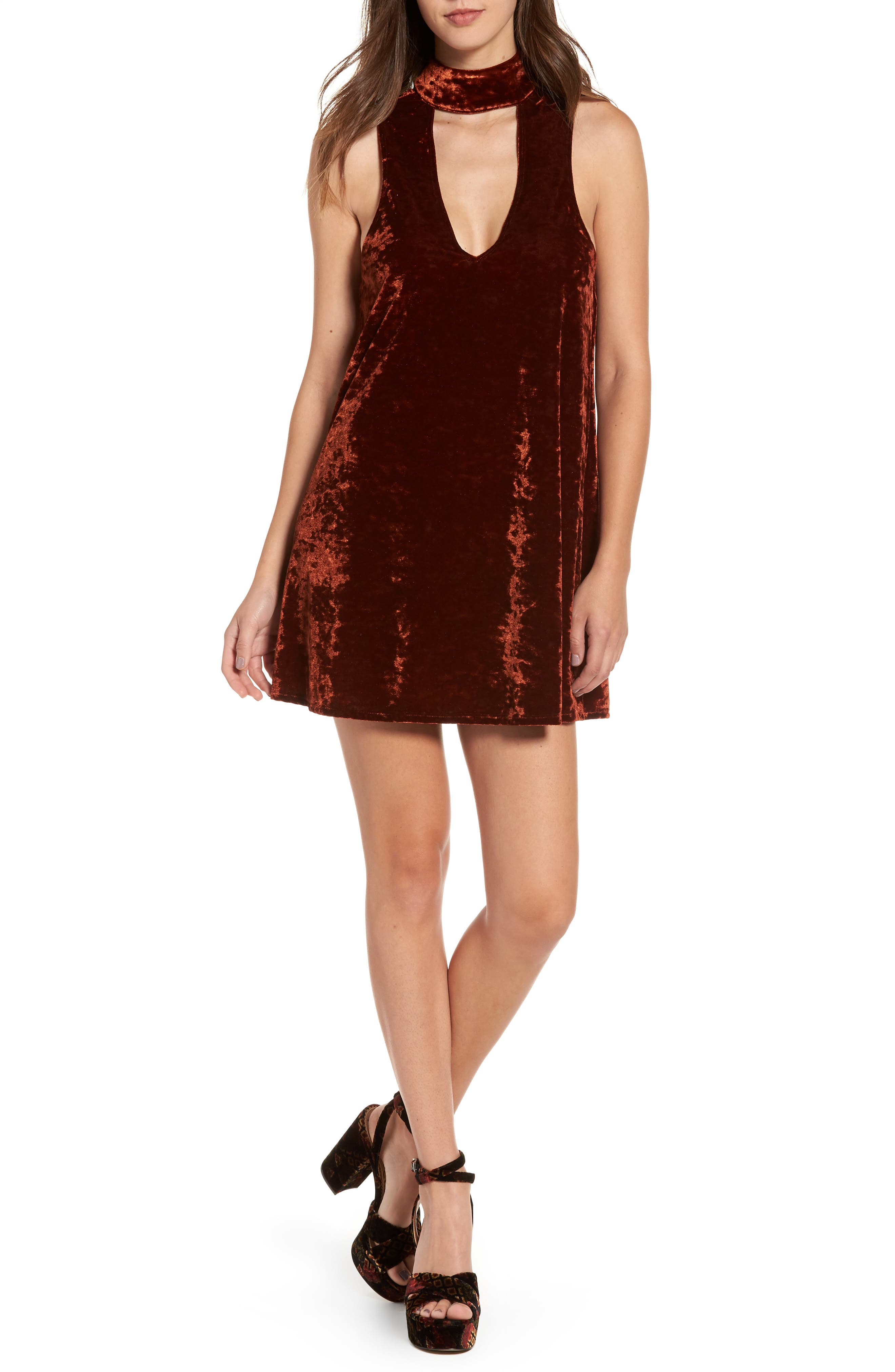 Show Me Your Mumu Friday Choker Velvet Dress