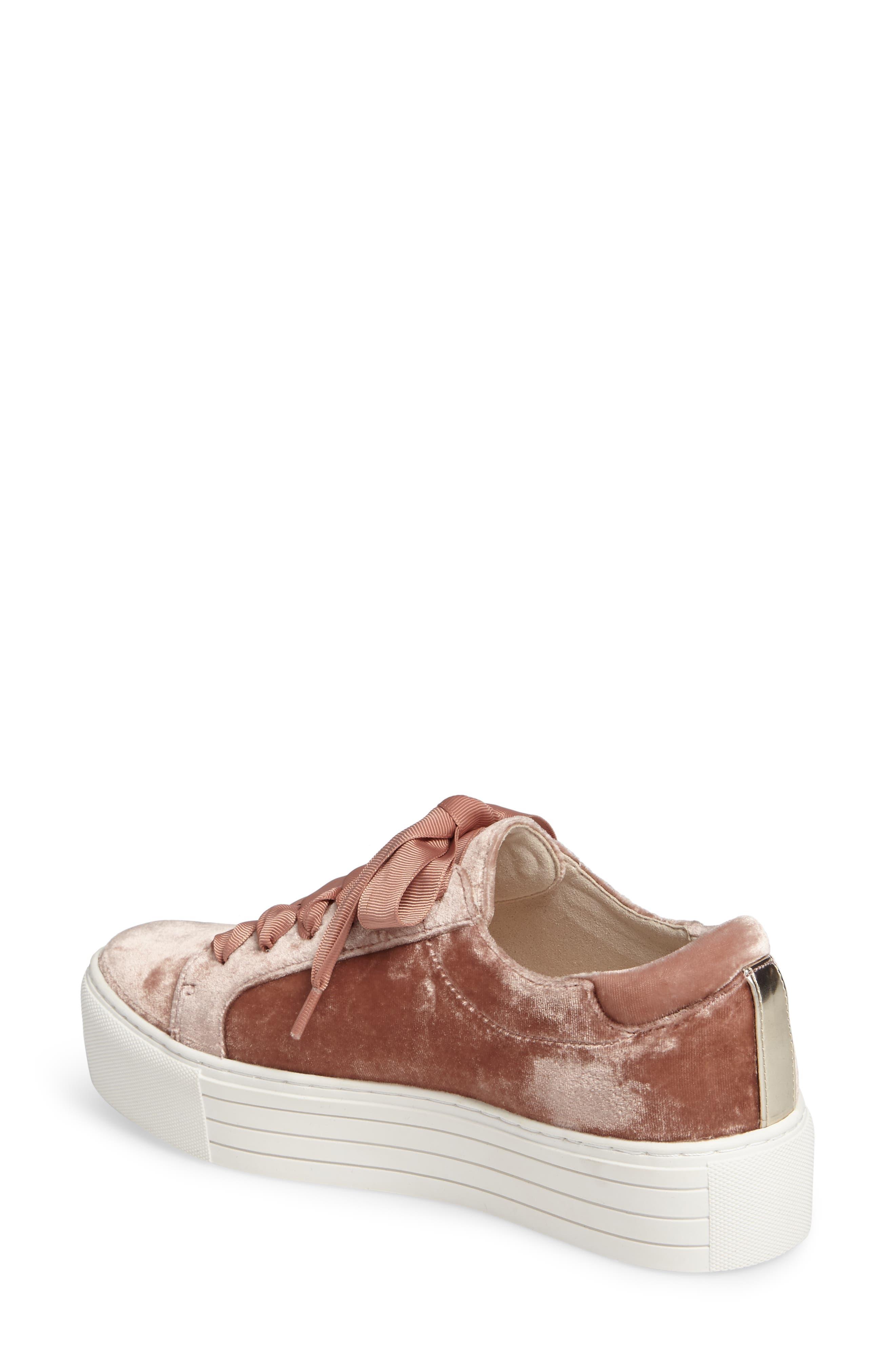 Abbey Platform Sneaker,                             Alternate thumbnail 2, color,                             Blush Velvet