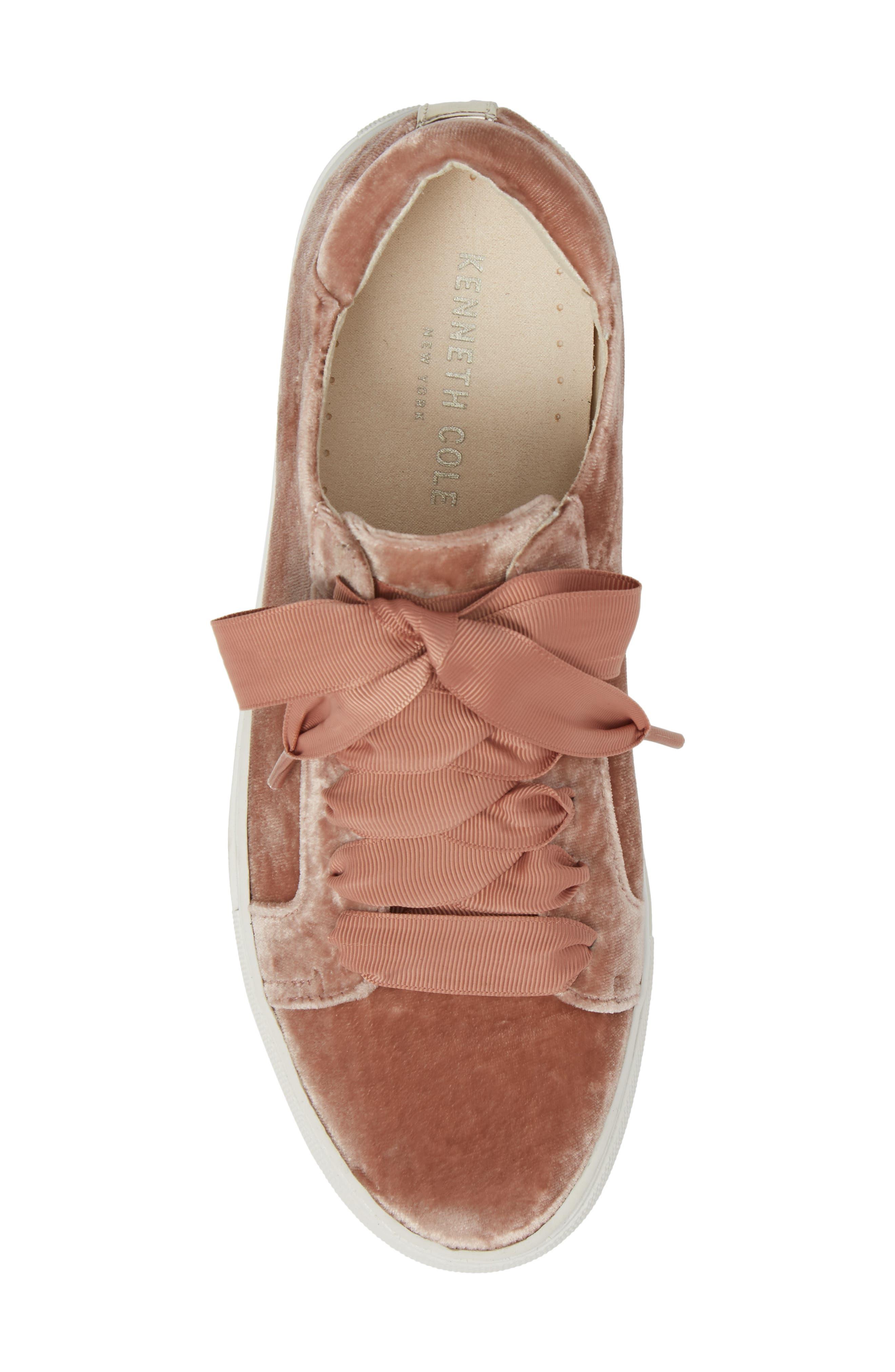 Abbey Platform Sneaker,                             Alternate thumbnail 5, color,                             Blush Velvet