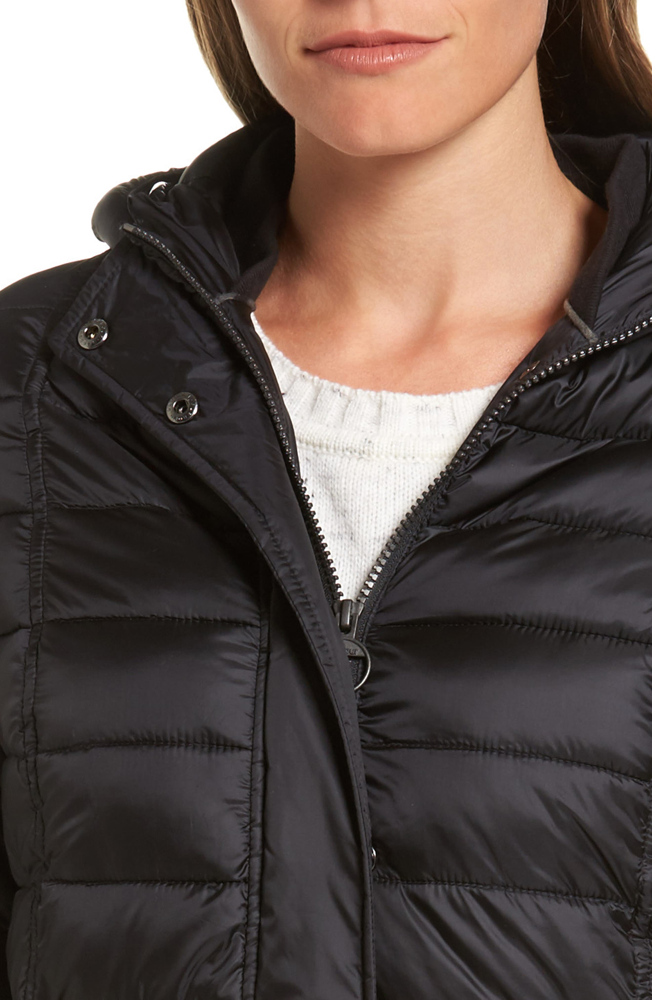 Alternate Image 4  - Barbour Fortrose Hooded Quilted Coat with Faux Fur Trim