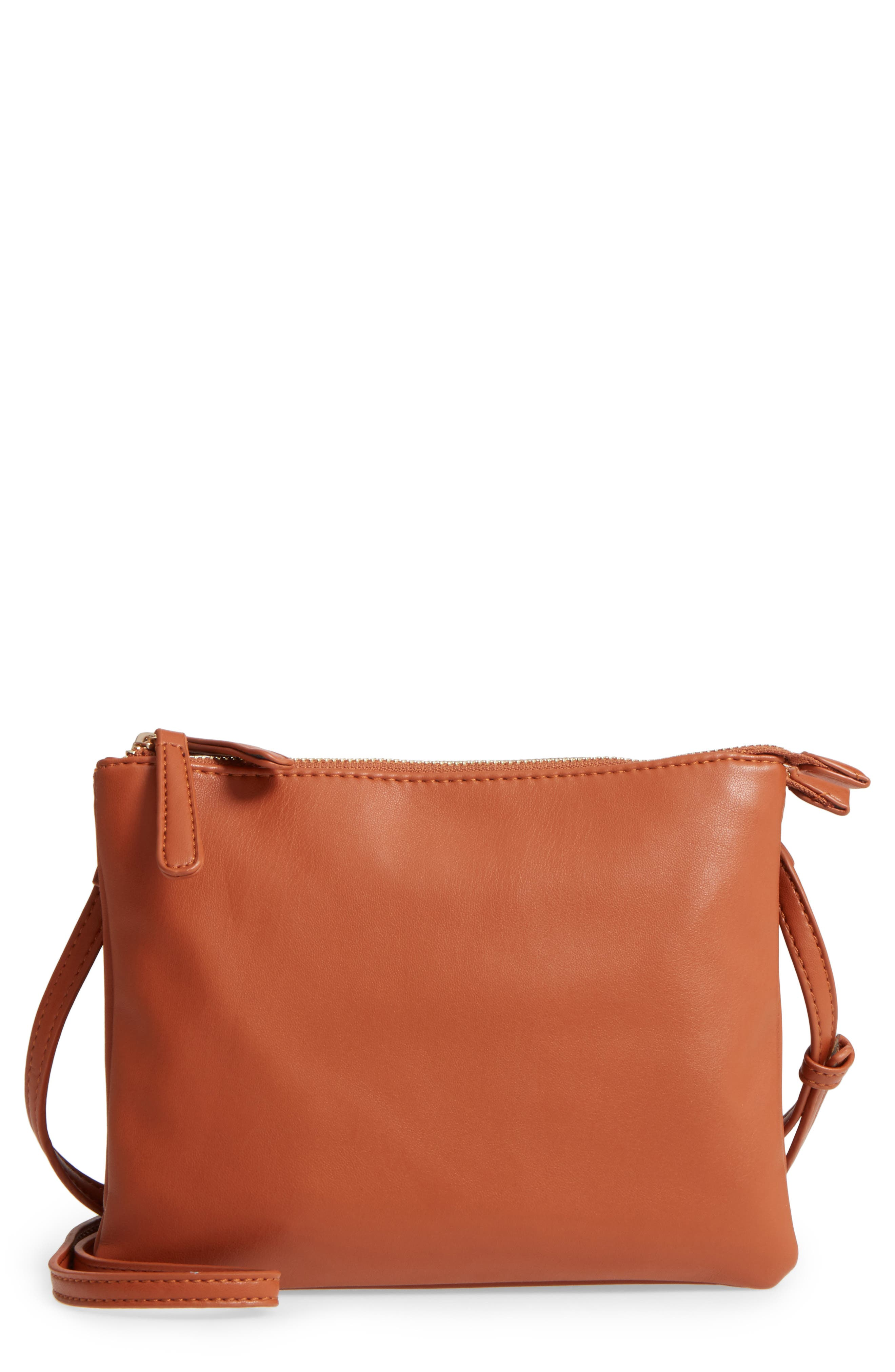 Alternate Image 1 Selected - Sole Society Madden Faux Leather Pouch Crossbody Bag