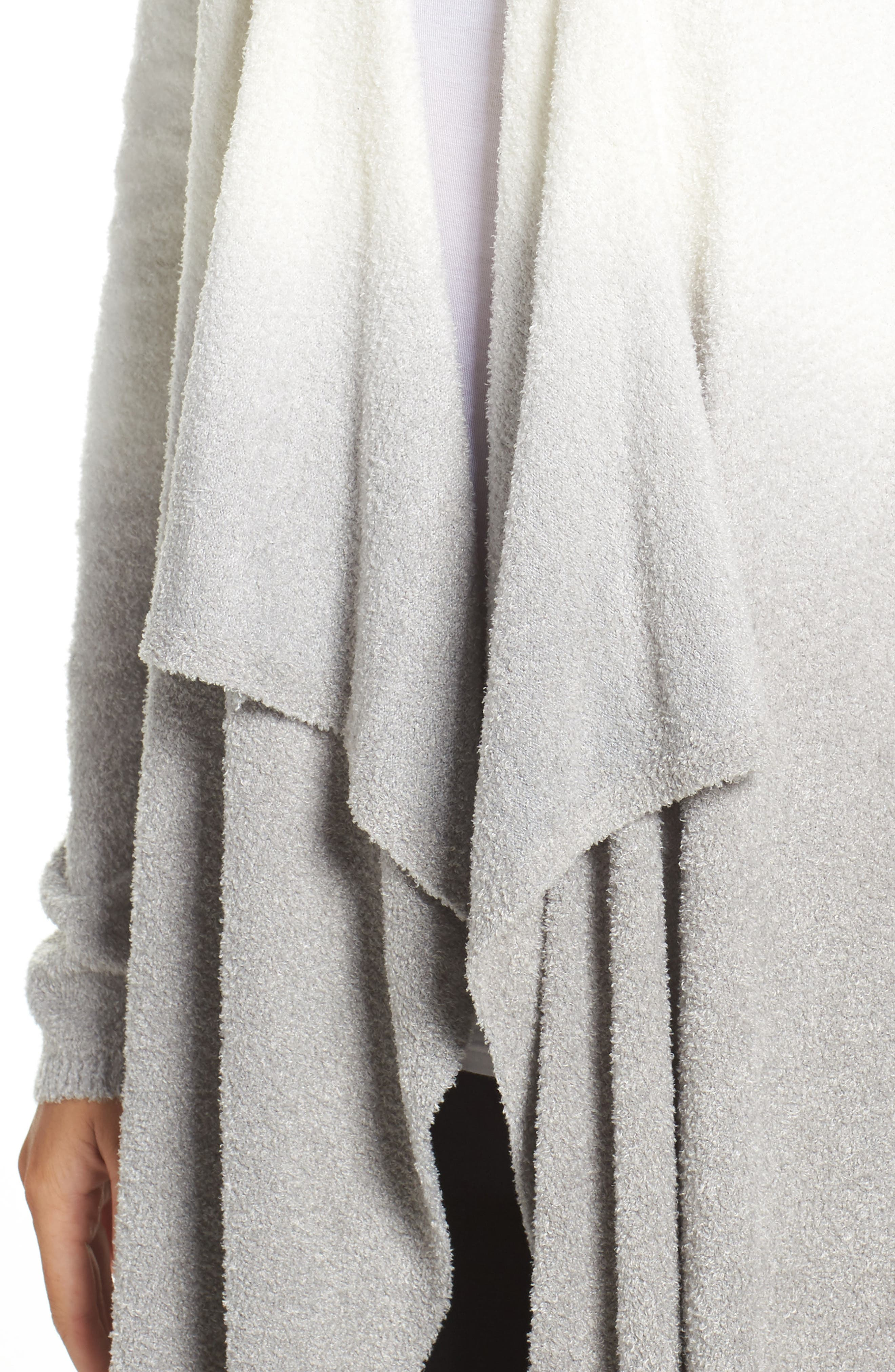 CozyChic Lite<sup>®</sup> Calypso Wrap Cardigan,                             Alternate thumbnail 4, color,                             White/ Pewter Ombre