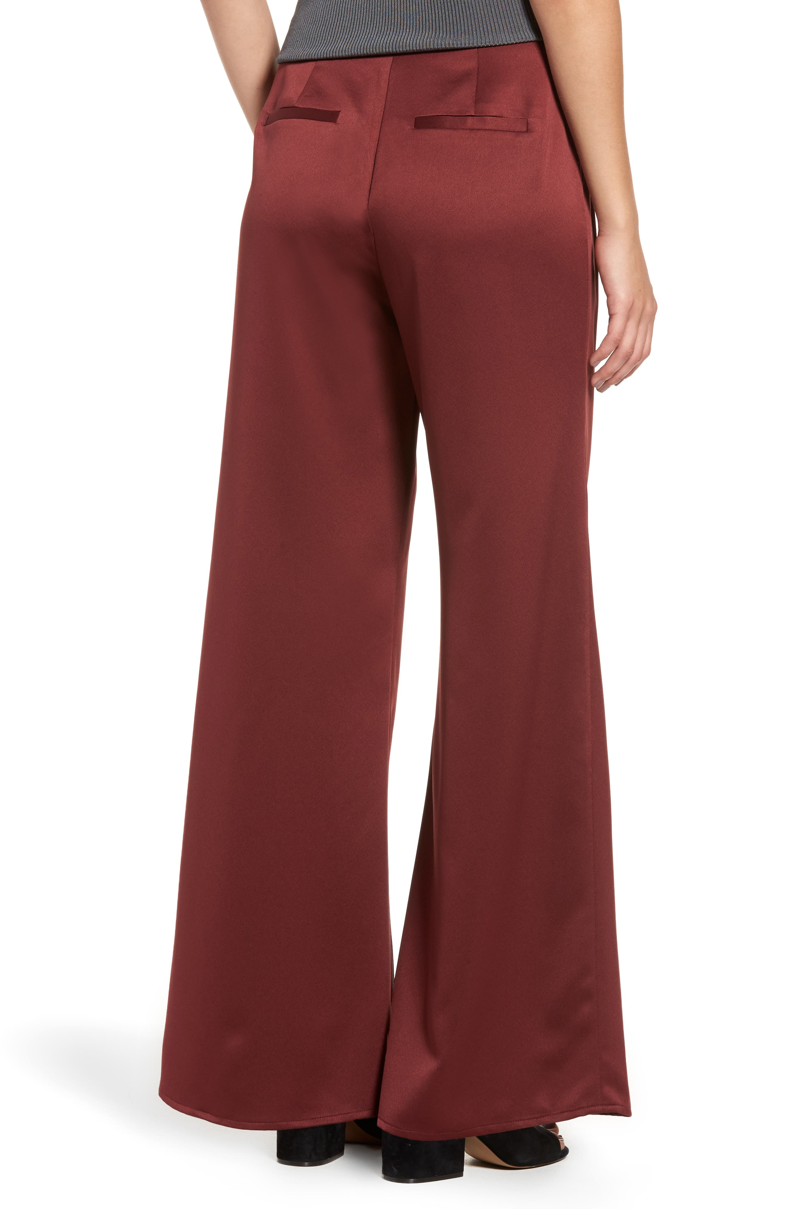 Alternate Image 2  - Leith Wide Leg Satin Trousers