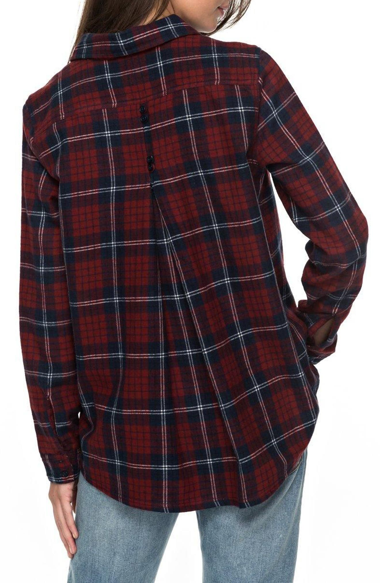 Alternate Image 3  - Roxy Heavy Feelings Plaid Shirt