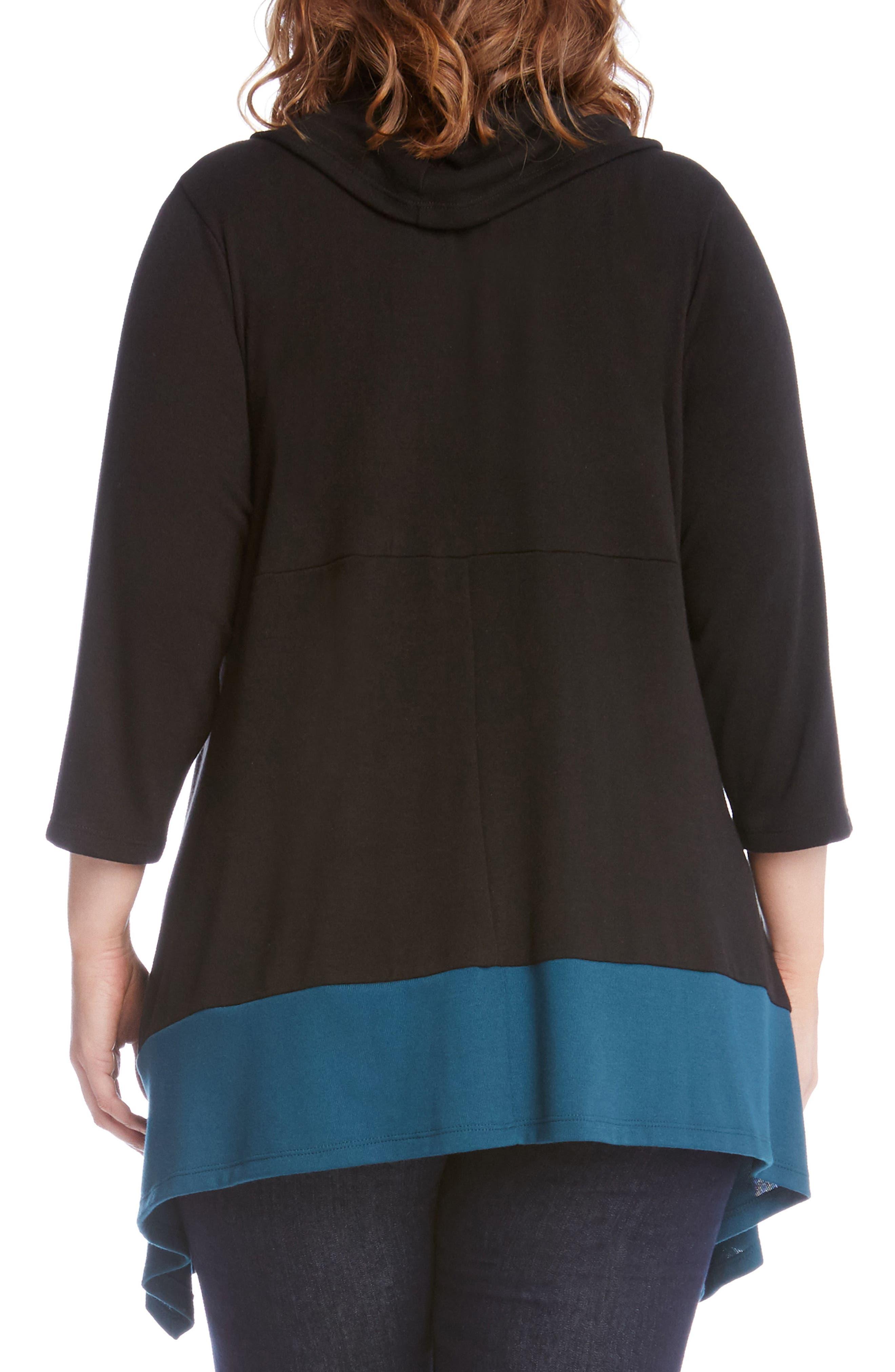 Alternate Image 2  - Karen Kane Colorblock Hem Sweater (Plus Size)